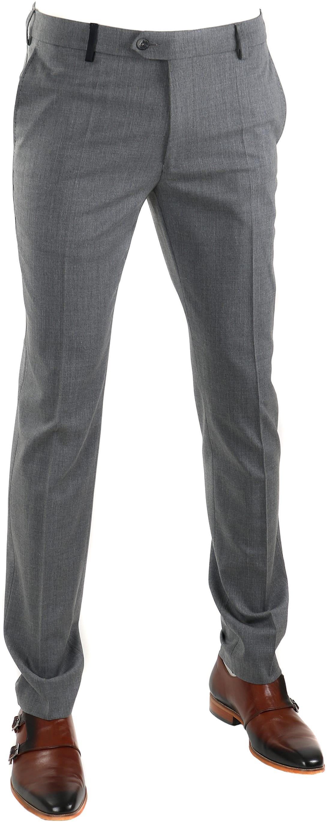 Suitable Pantalon Middengrijs foto 0