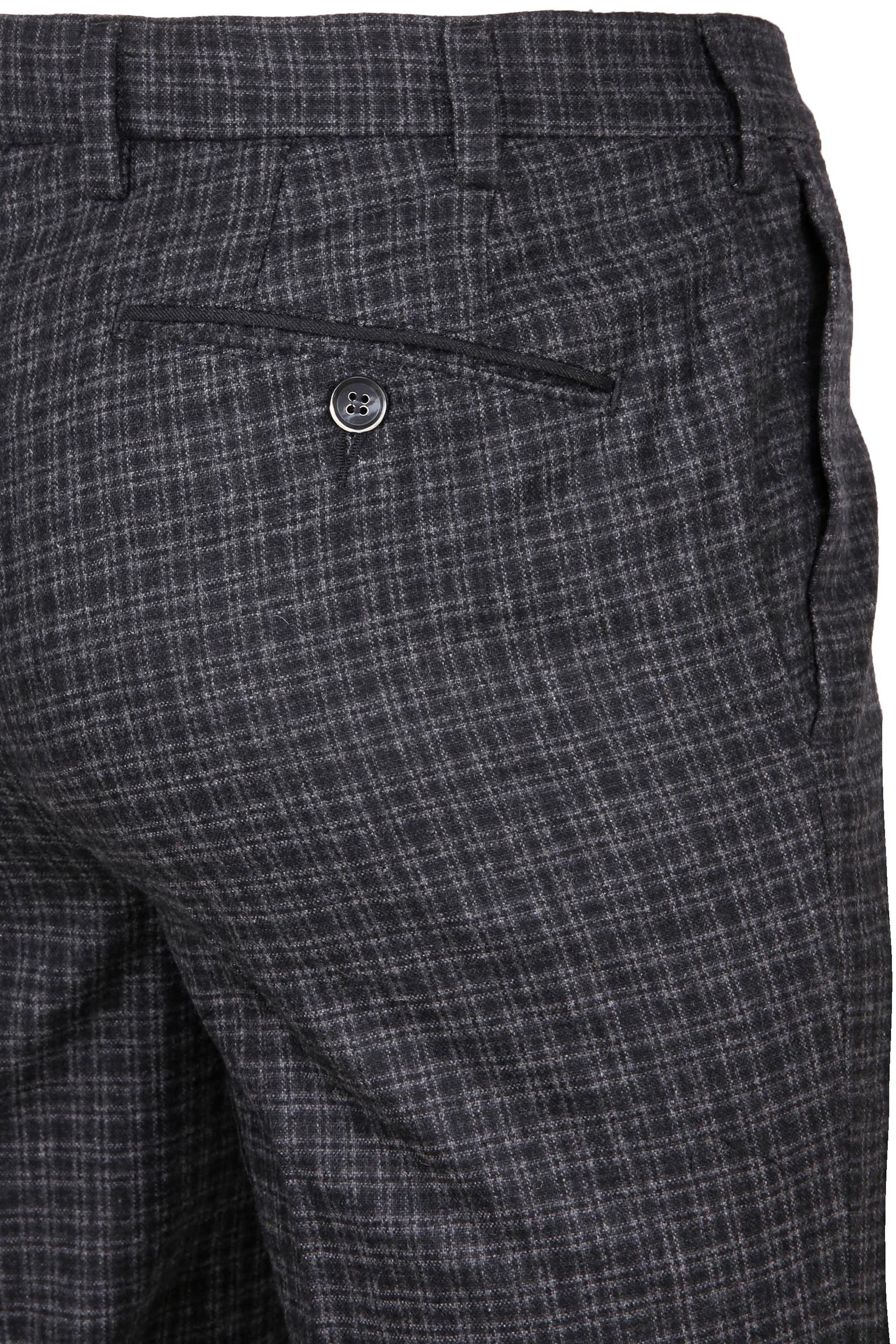 Suitable Pantalon Milano Ruit Antraciet