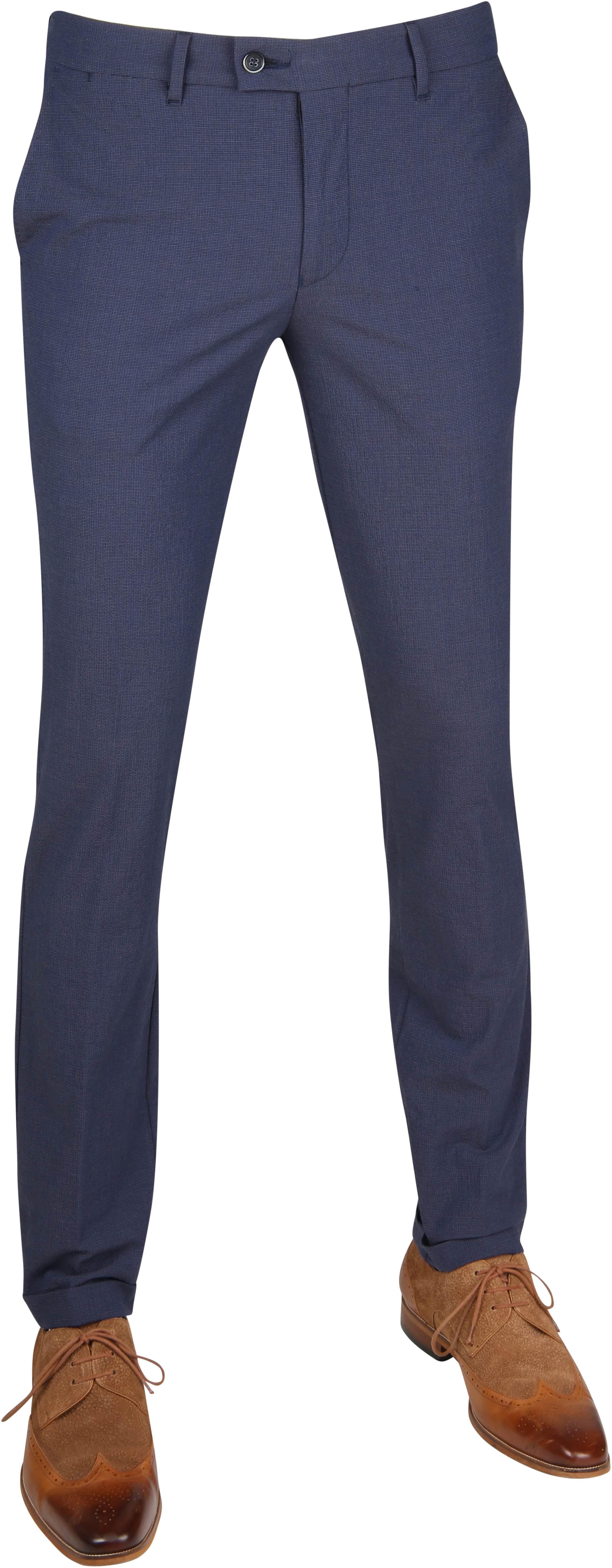 Suitable Pantalon Pisa Dessin Blauw foto 0