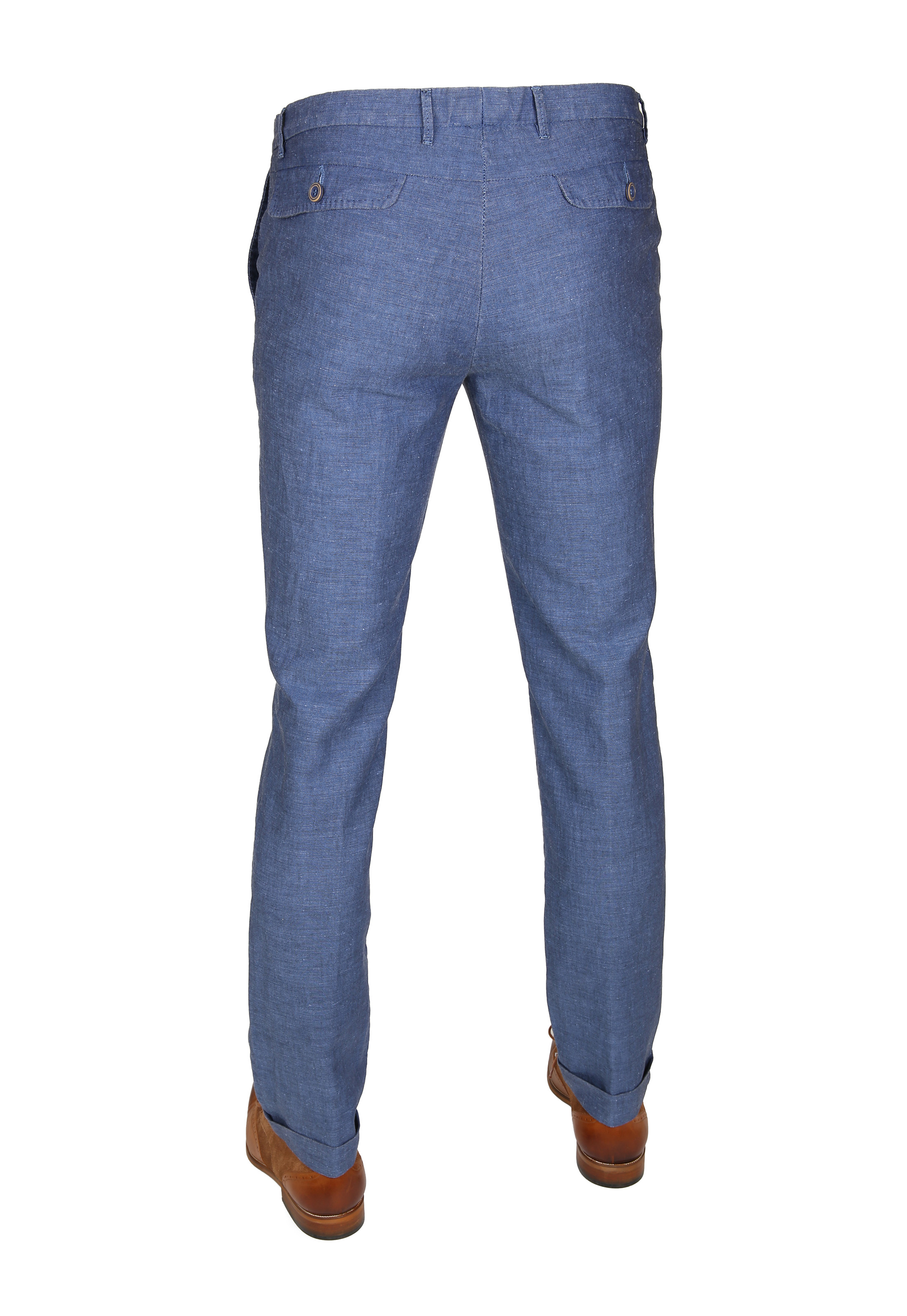 Suitable Pantalon Pisa Linnen Indigo foto 3