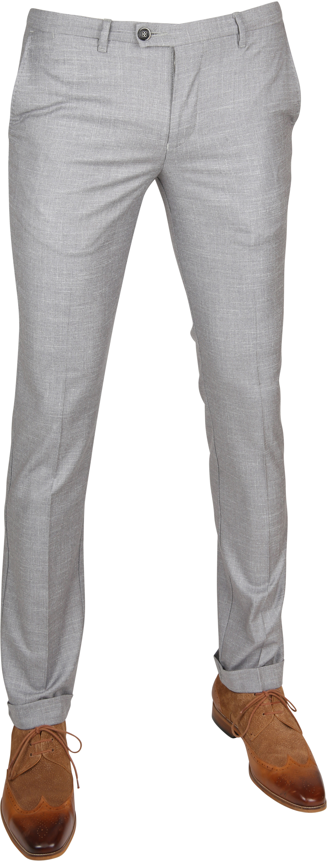 Suitable Pantalon Pisa Melange Grau foto 0
