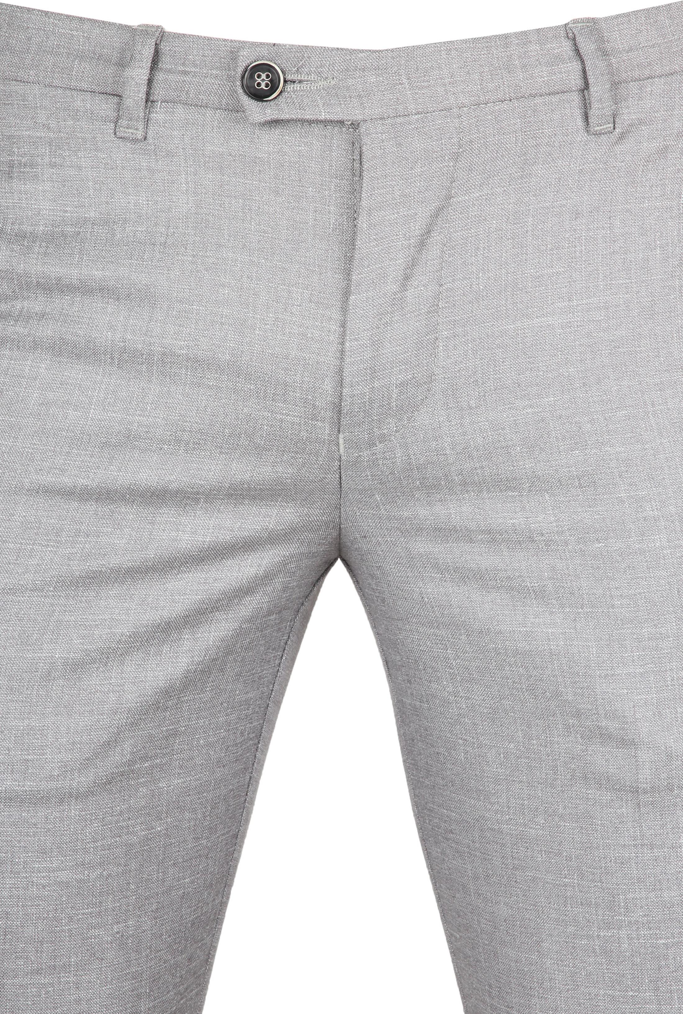 Suitable Pantalon Pisa Melange Grau foto 2