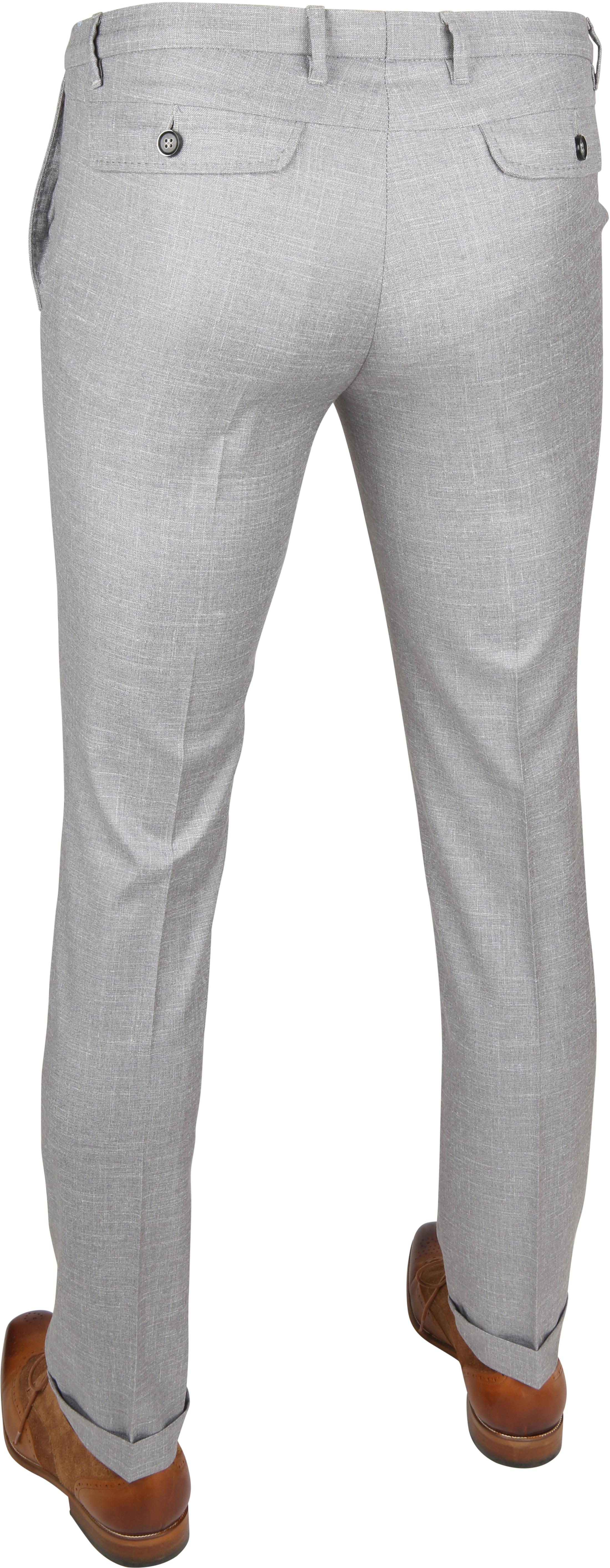 Suitable Pantalon Pisa Melange Grau foto 3