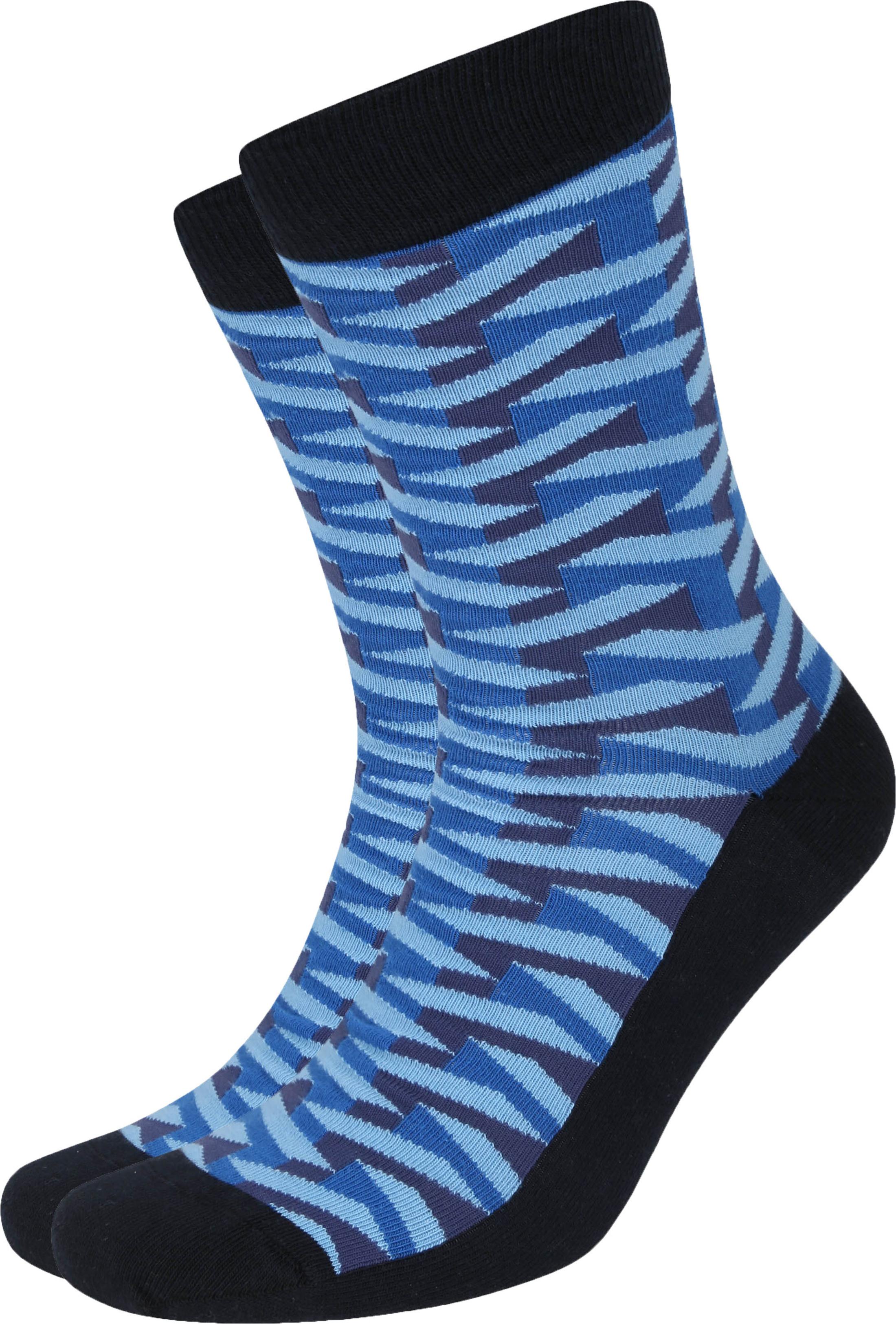 Suitable Pattern Sokken 3D Donkerblauw
