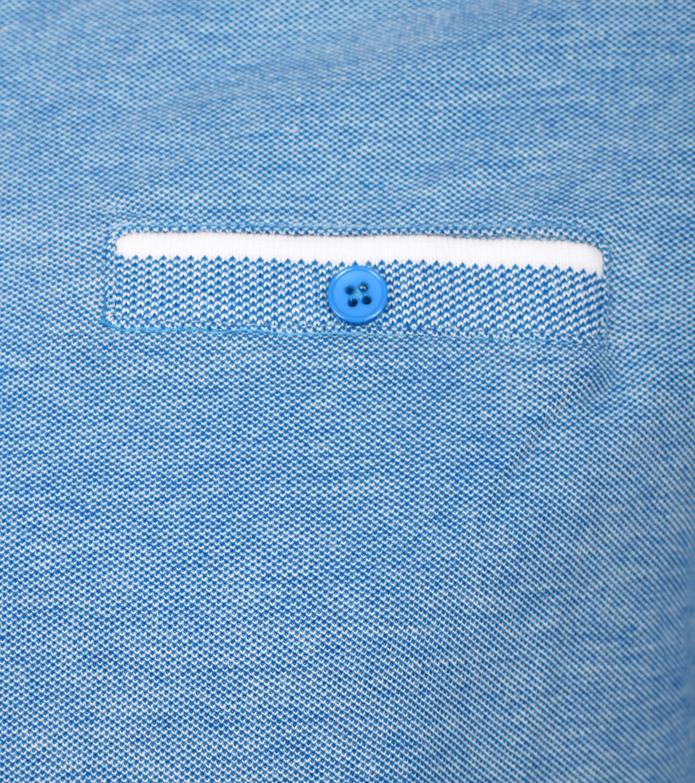 Suitable Polo Blauw Oxford foto 1