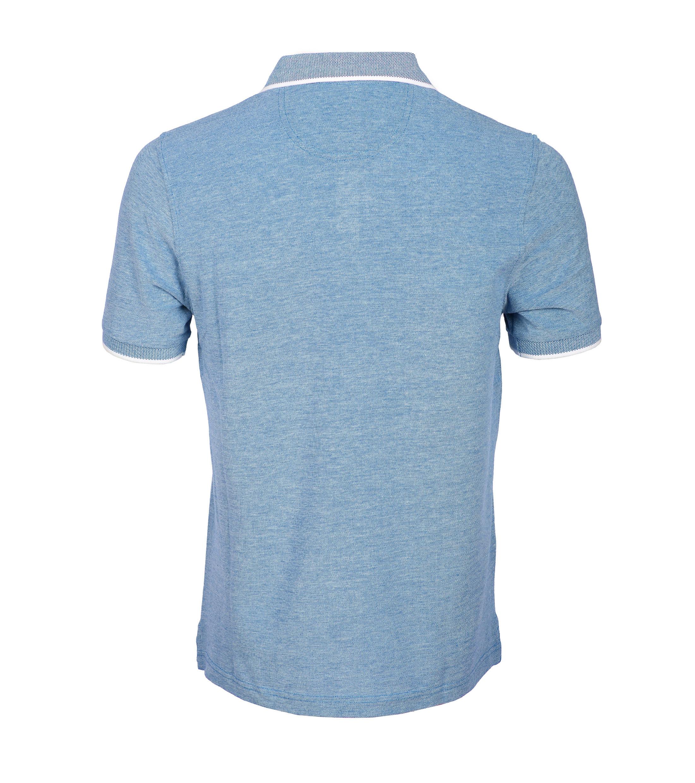 Suitable Polo Blauw Oxford foto 2