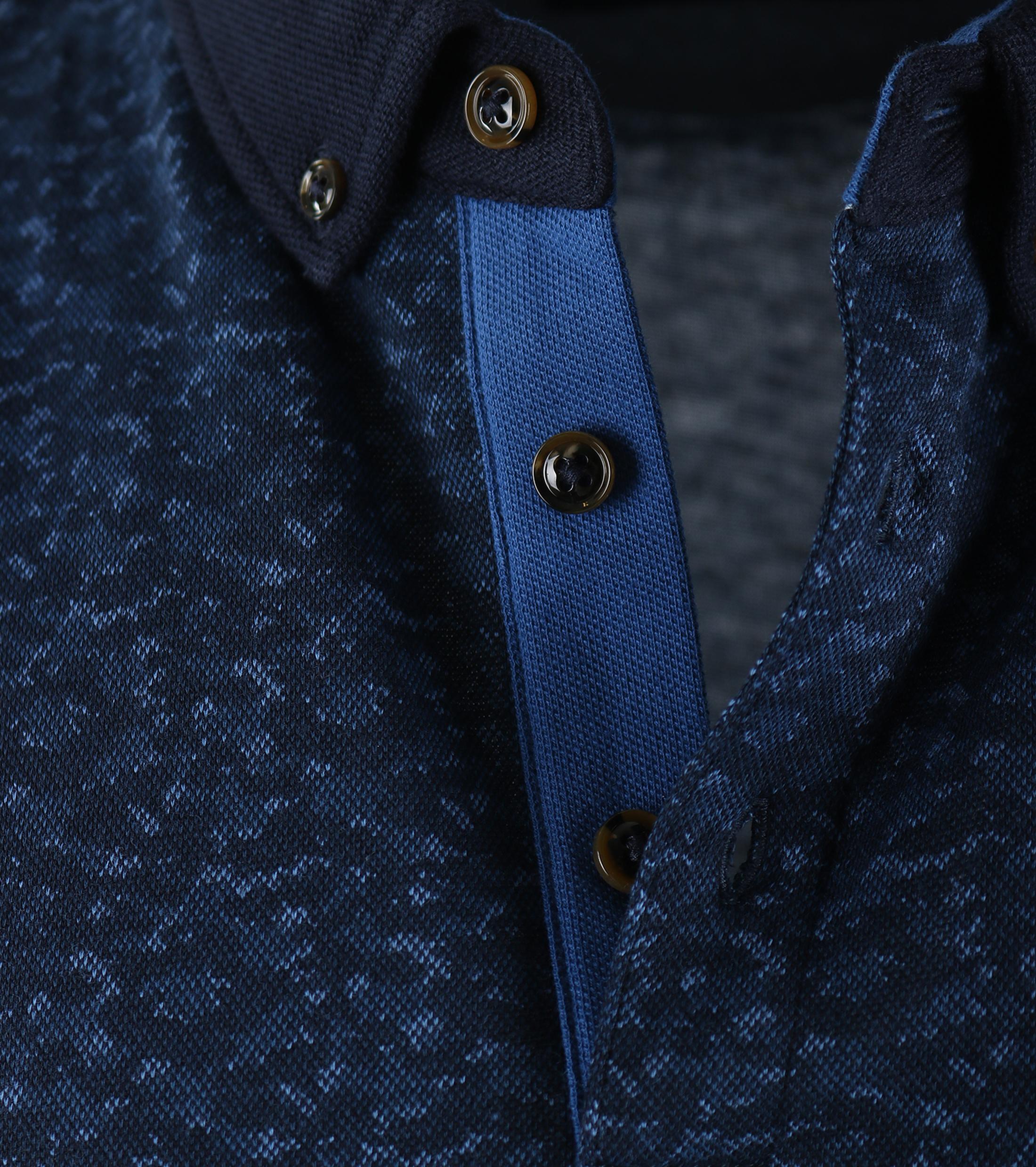 Suitable Polo Blauwe Print foto 2