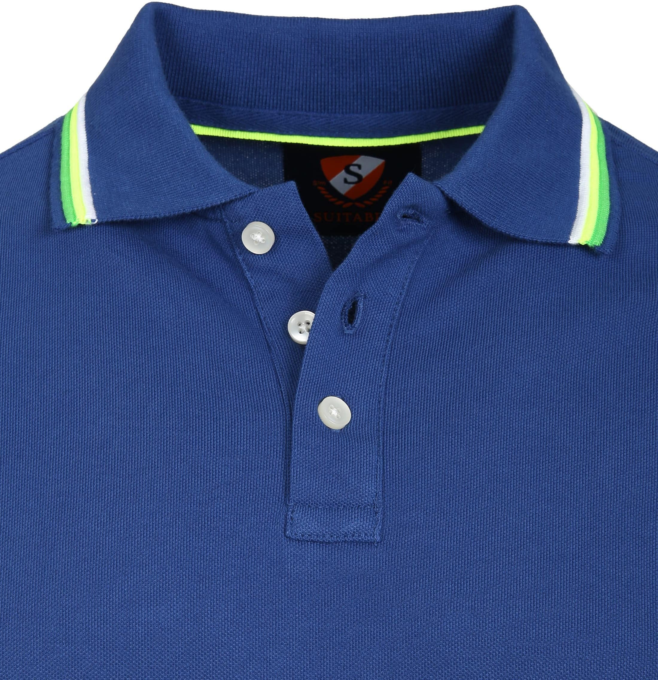 Suitable Polo Neon Blauw foto 1