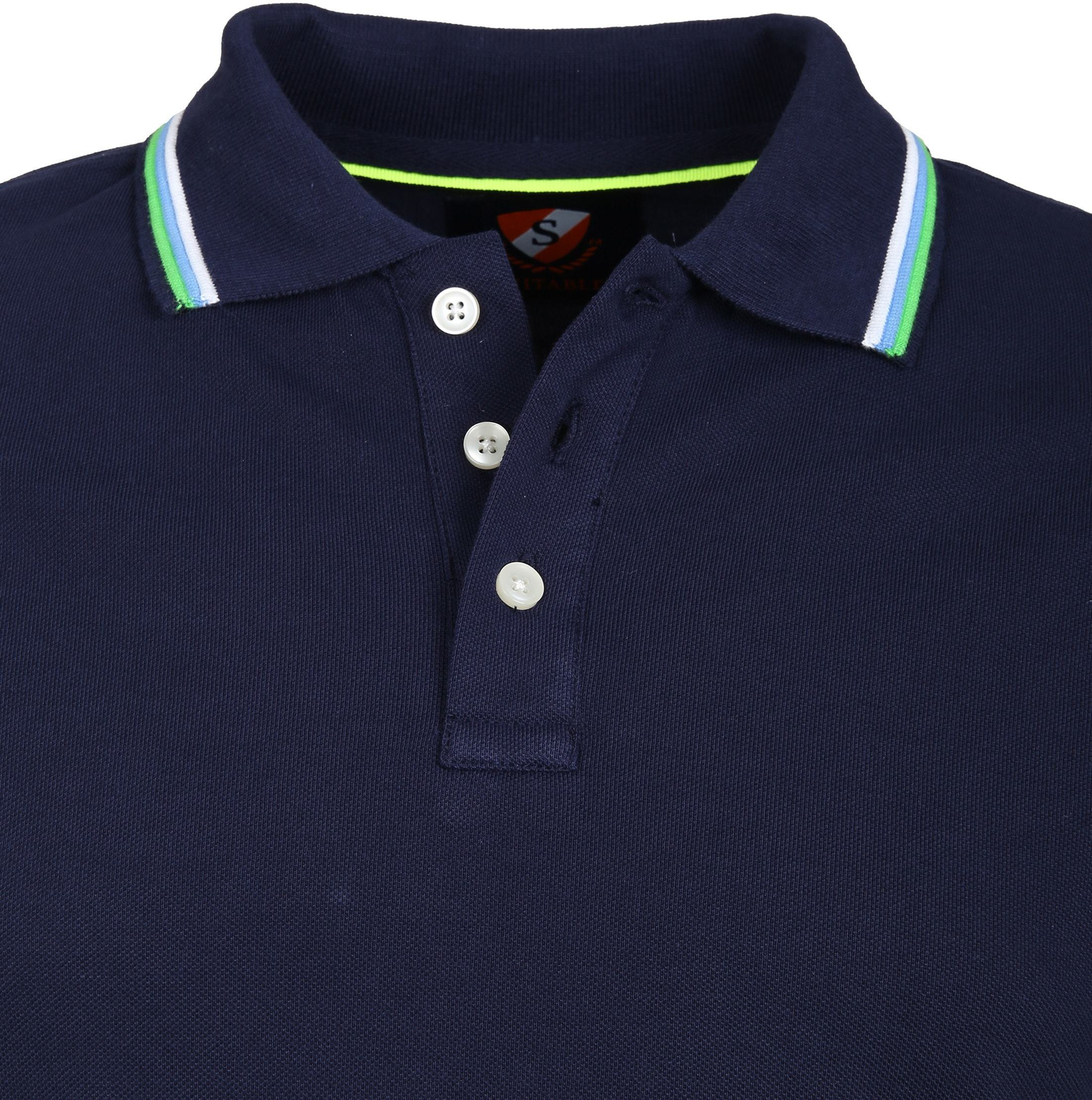 Suitable Polo Neon Navy foto 1