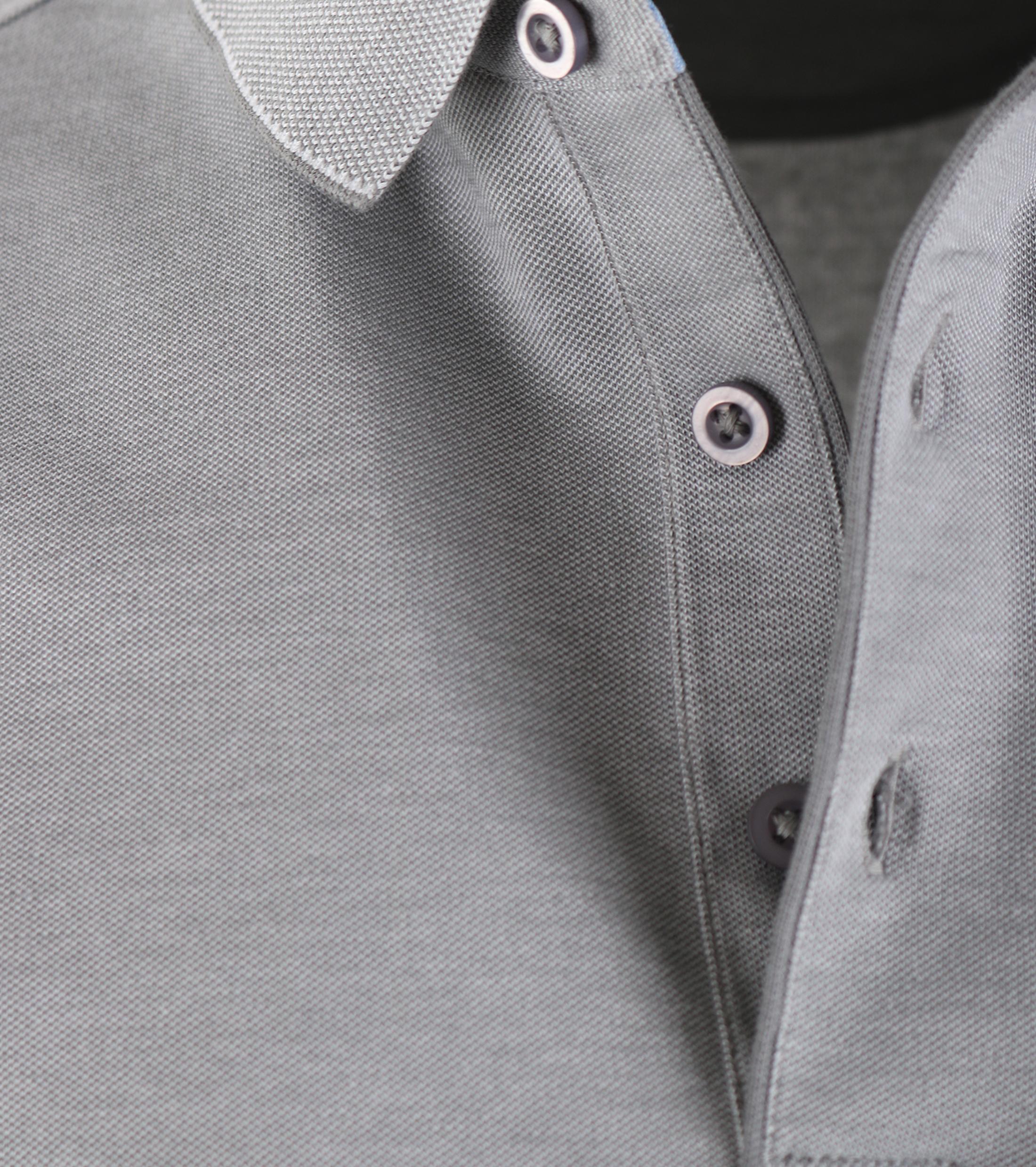 Suitable Polo Oxford Grijs foto 2