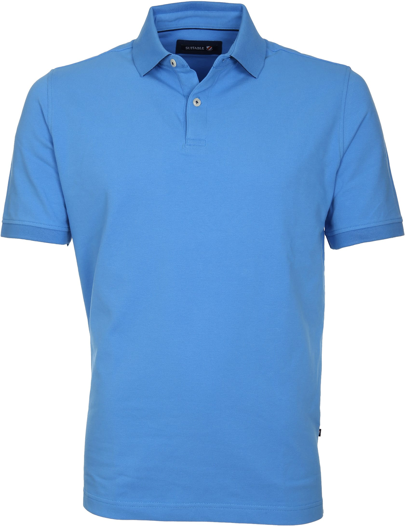 Suitable Poloshirt Basic Blau foto 0