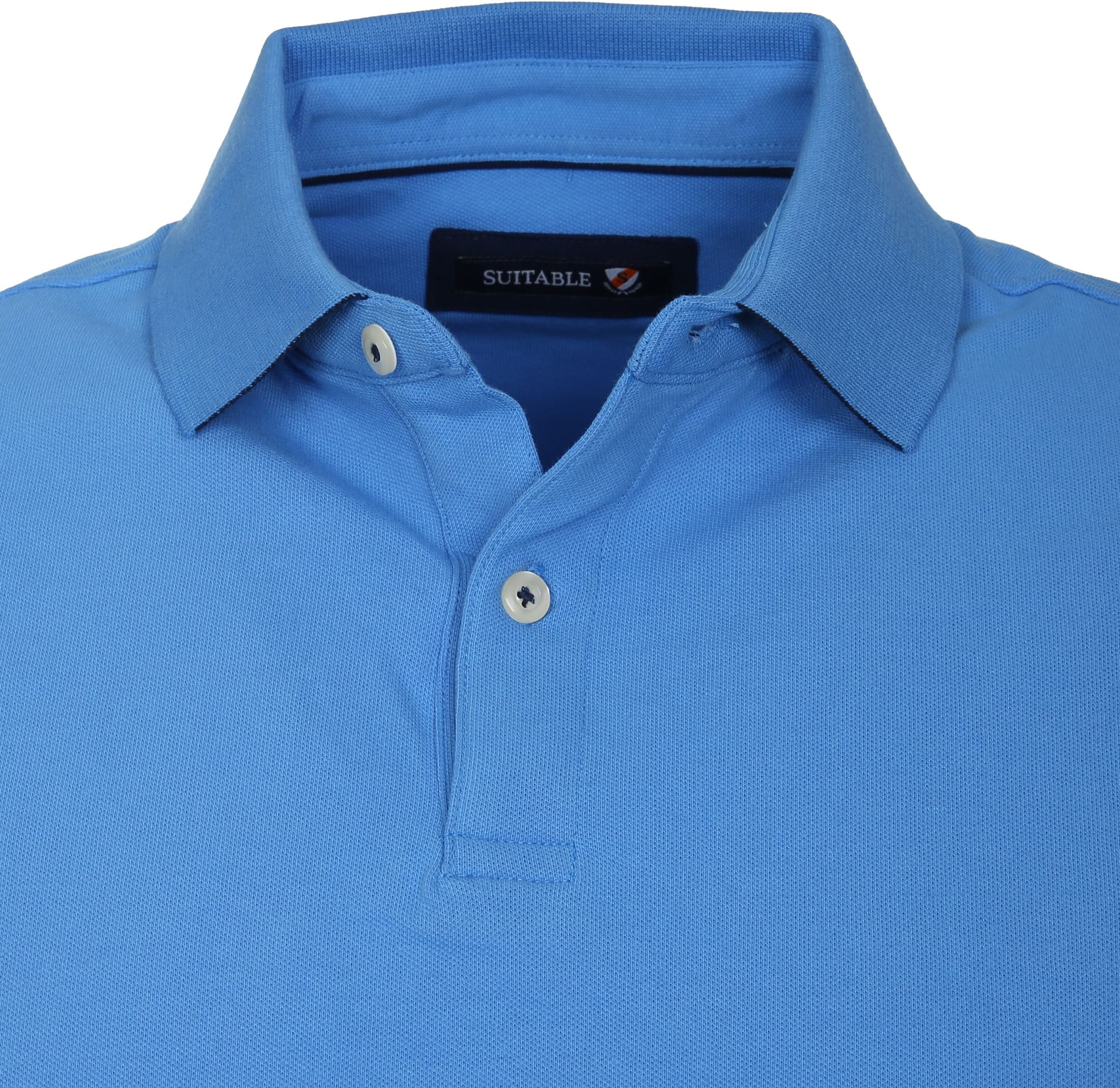 Suitable Poloshirt Basic Blau foto 1