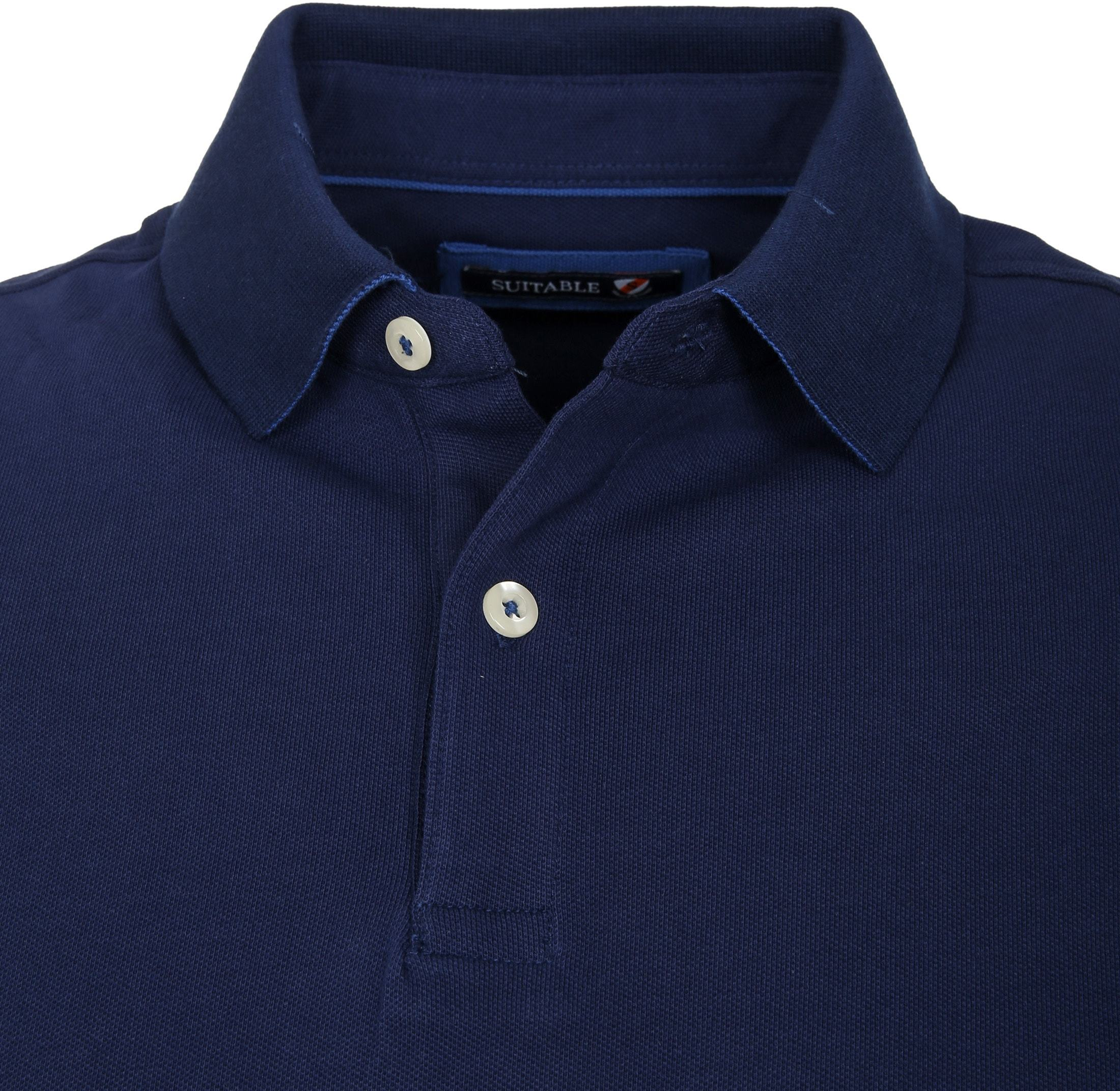 Suitable Poloshirt Basic Dunkelblau foto 1