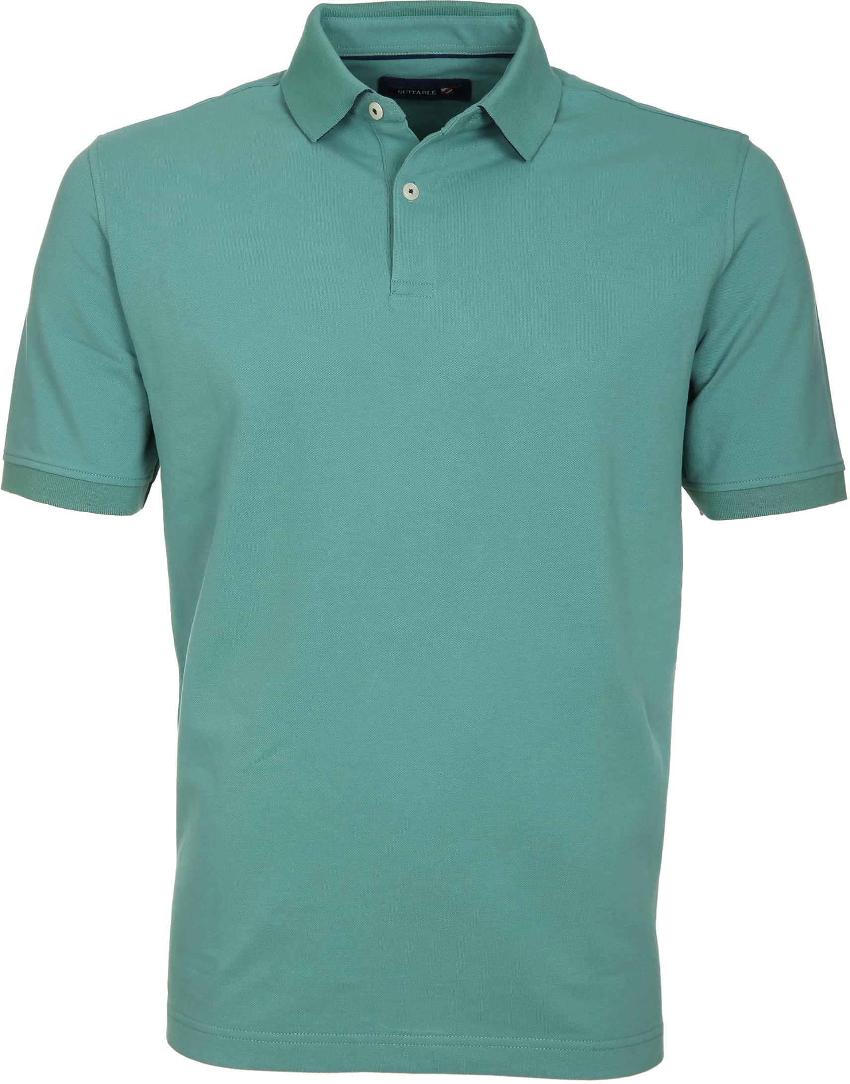 Suitable Poloshirt Basic Grün foto 0