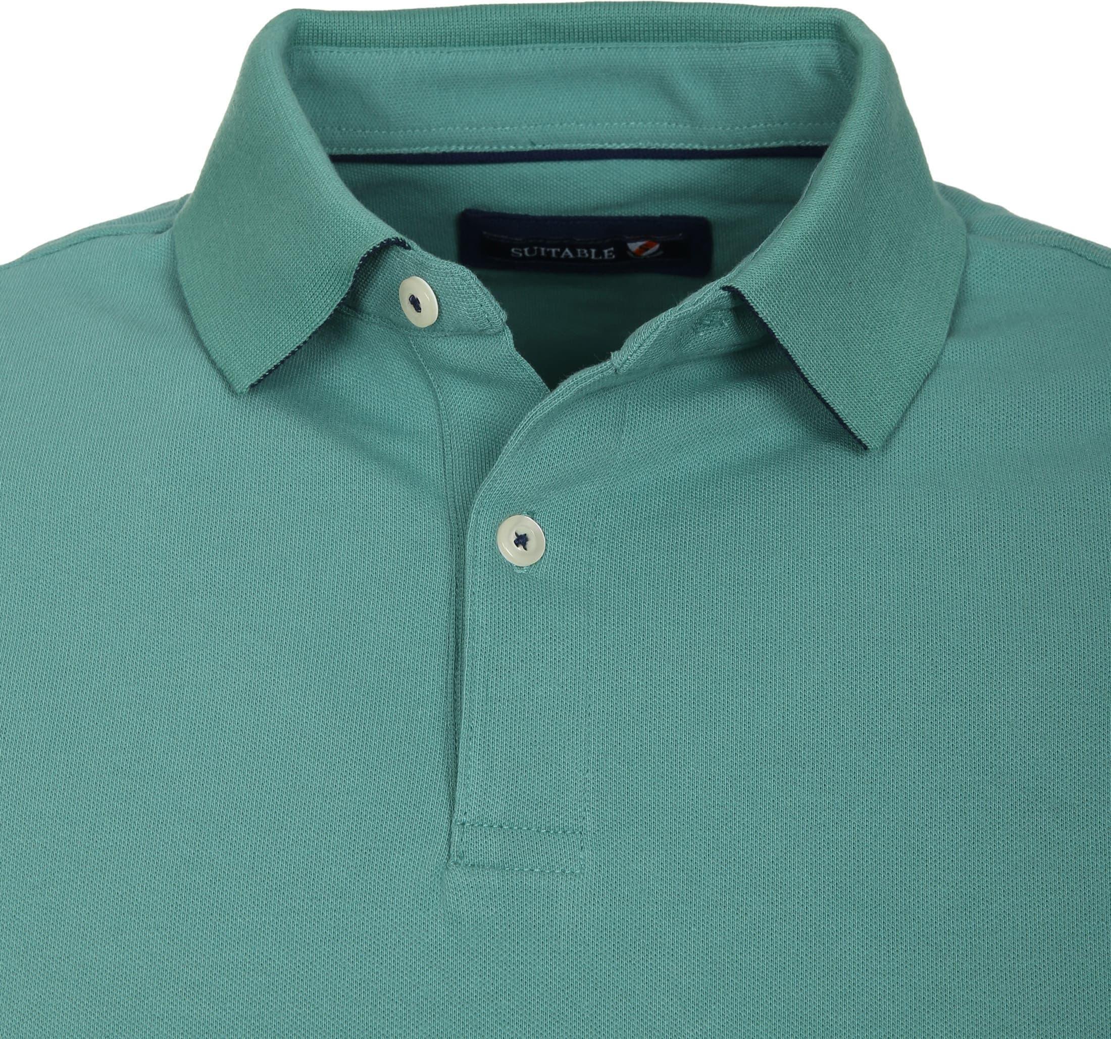 Suitable Poloshirt Basic Grün foto 1