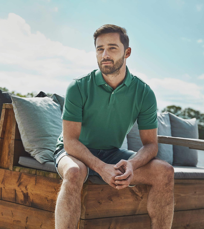 Suitable Poloshirt Basic Grün foto 5