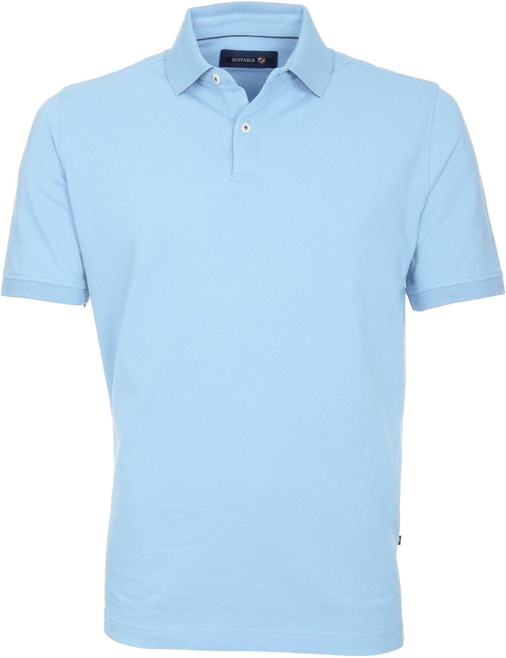 Suitable Poloshirt Basic Hellblau foto 0