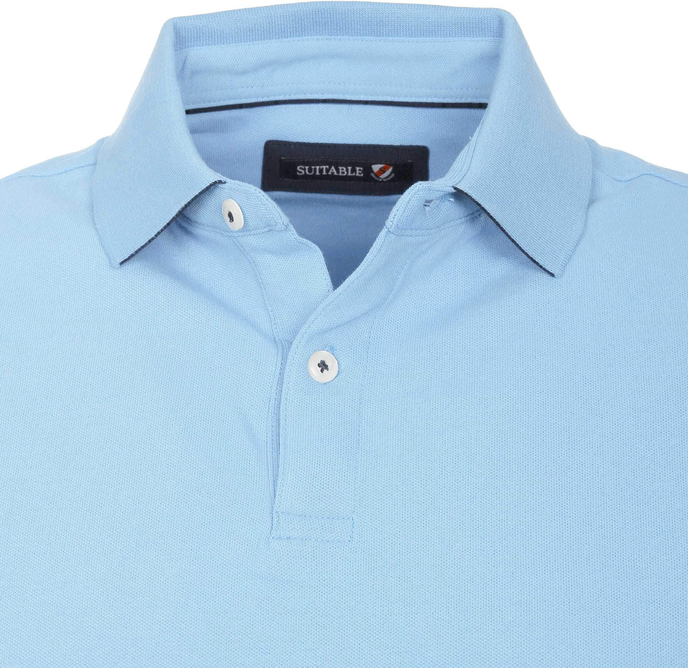Suitable Poloshirt Basic Hellblau foto 1