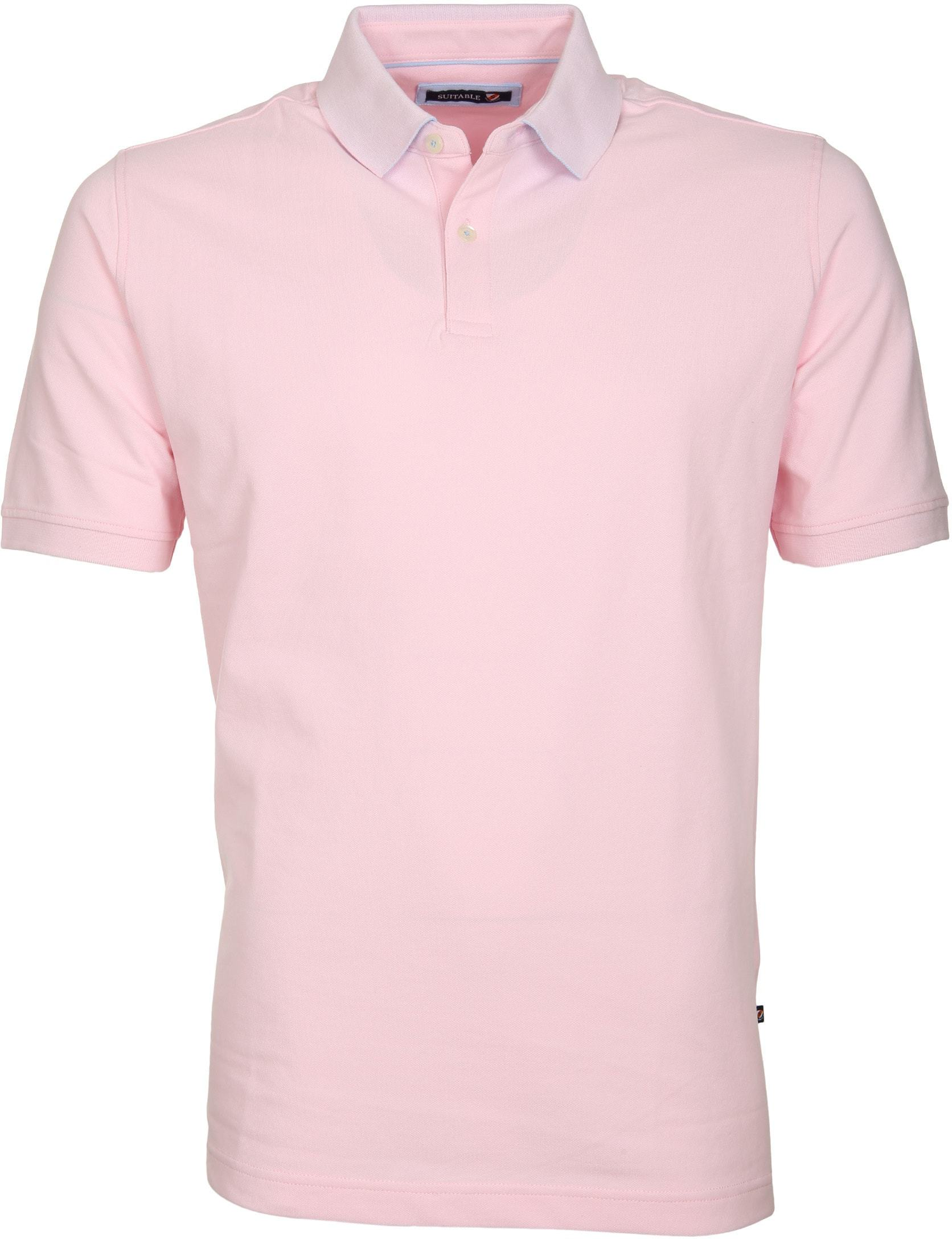 Suitable Poloshirt Basic Rosa foto 0