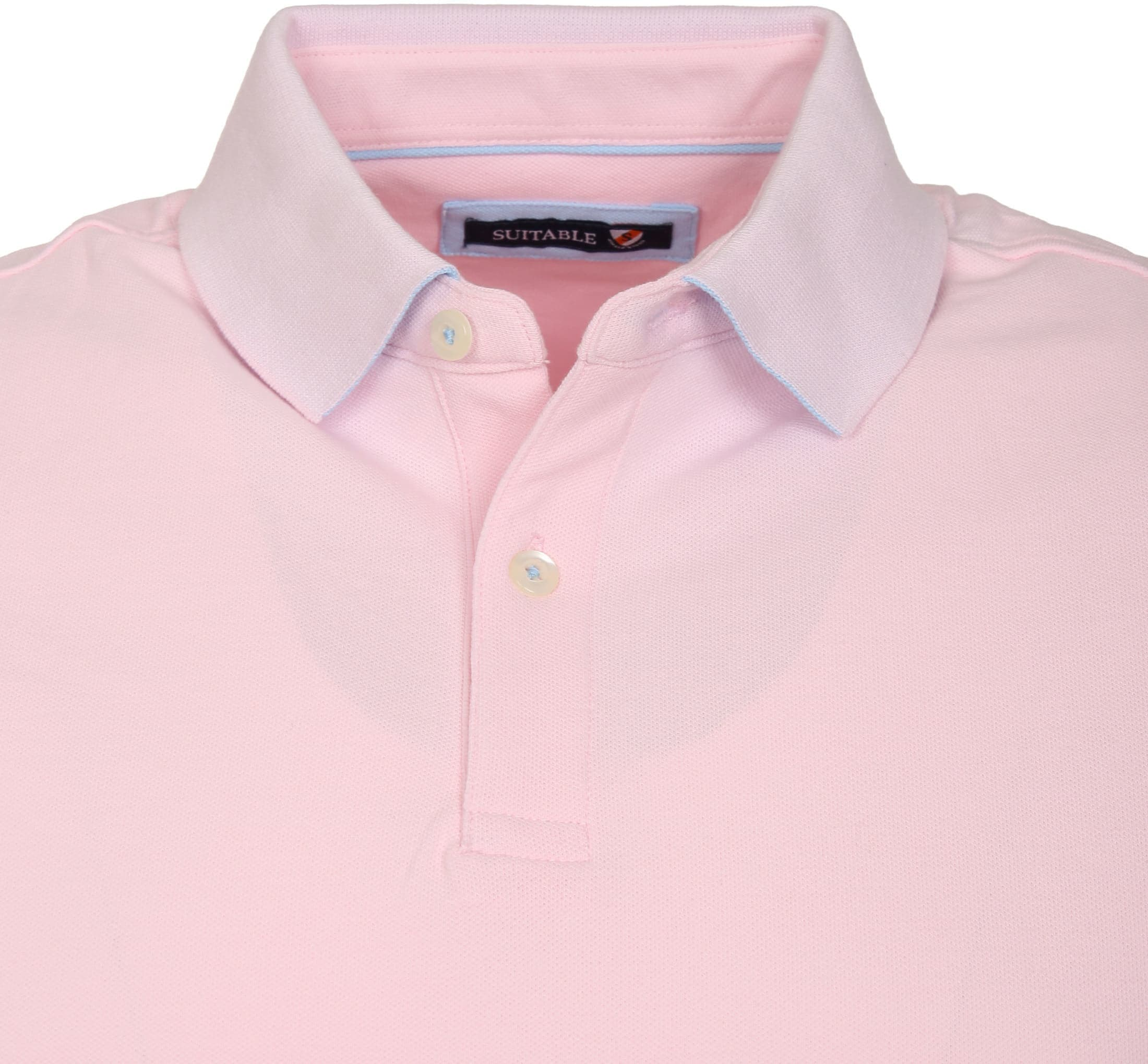 Suitable Poloshirt Basic Rosa foto 1