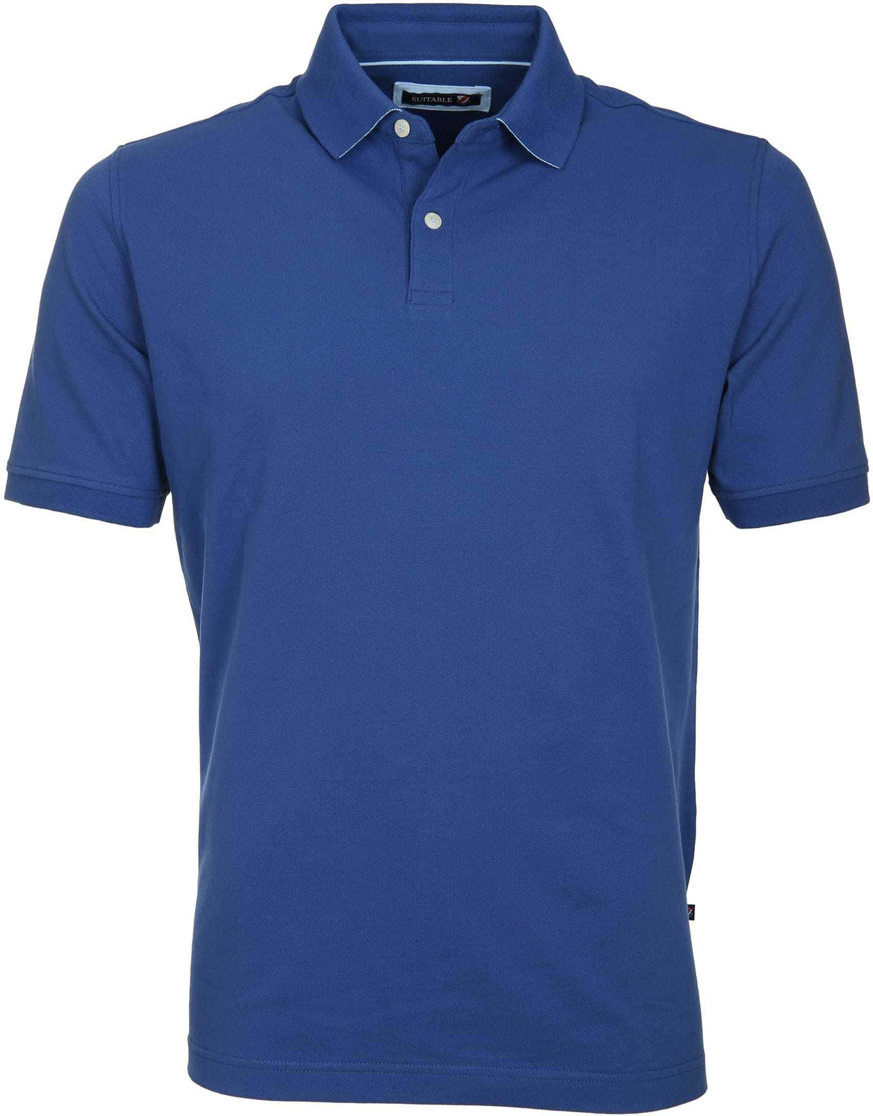 Suitable Poloshirt Basic Royal Blau foto 0