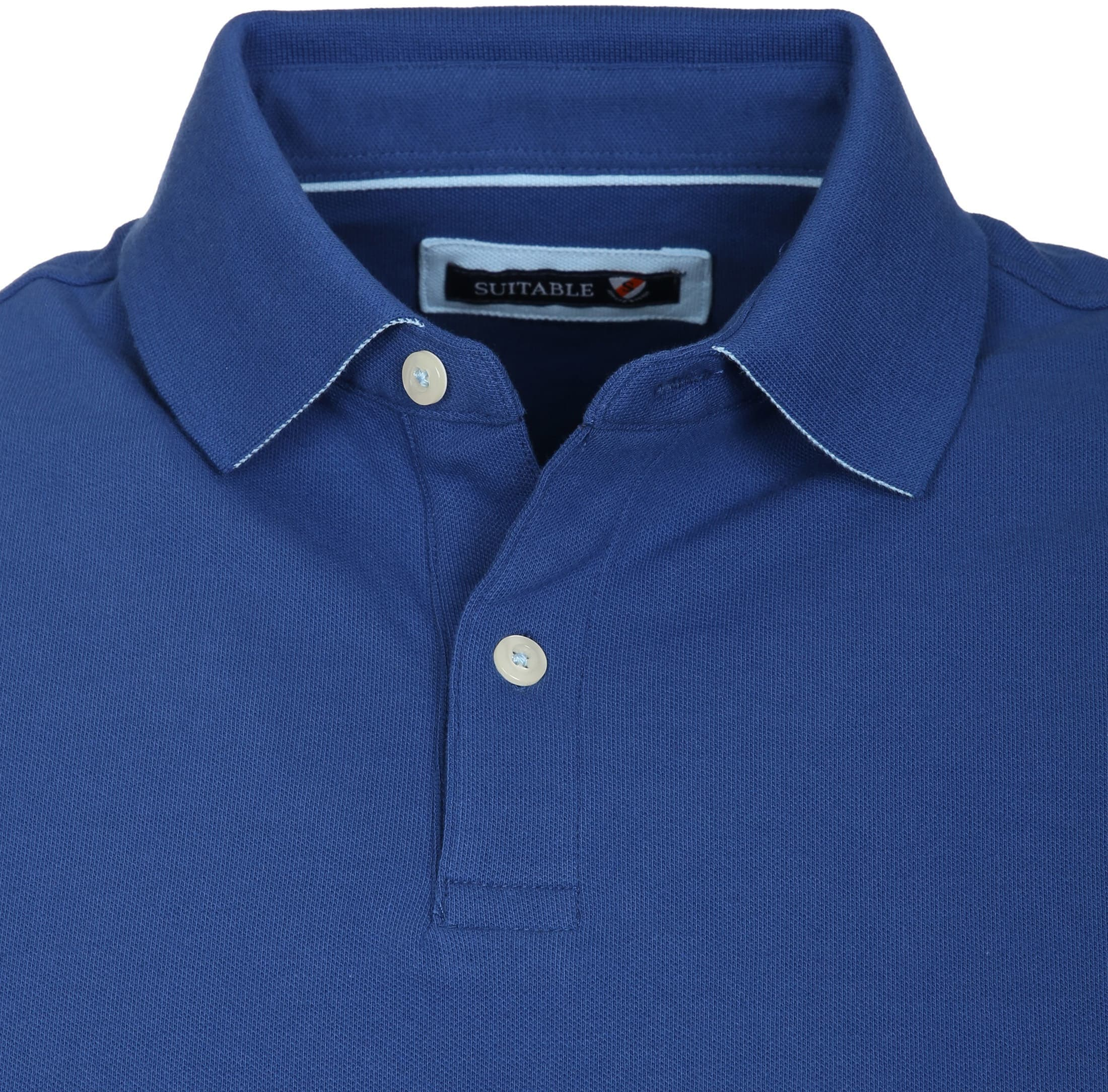 Suitable Poloshirt Basic Royal Blau foto 1