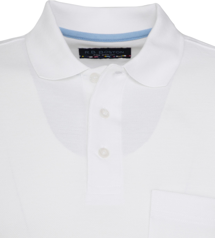 Suitable Poloshirt Boston Wit foto 1