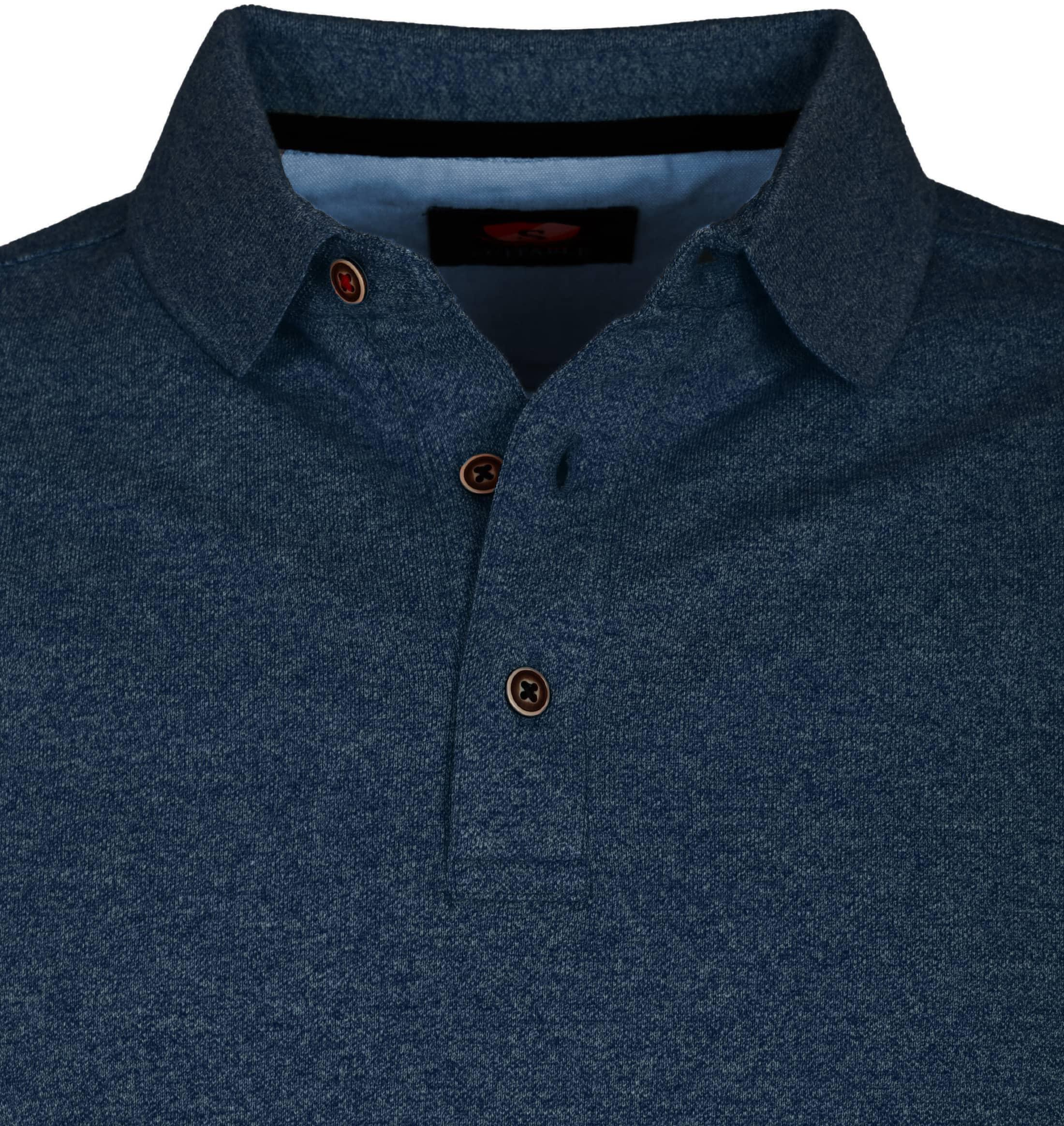 Suitable Poloshirt Jaspe Dunkelblau foto 1