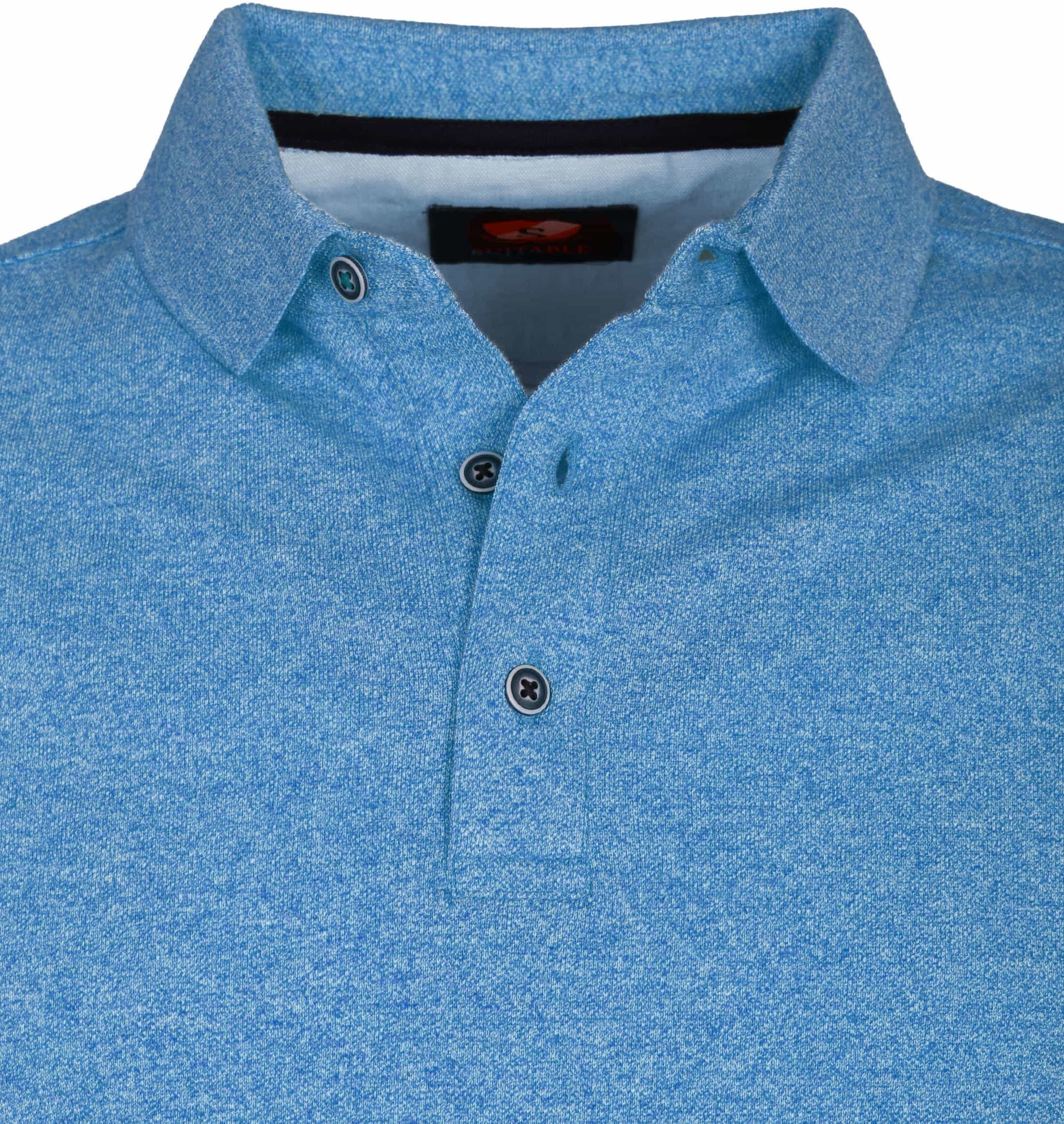 Suitable Poloshirt Jaspe Hellblau foto 1