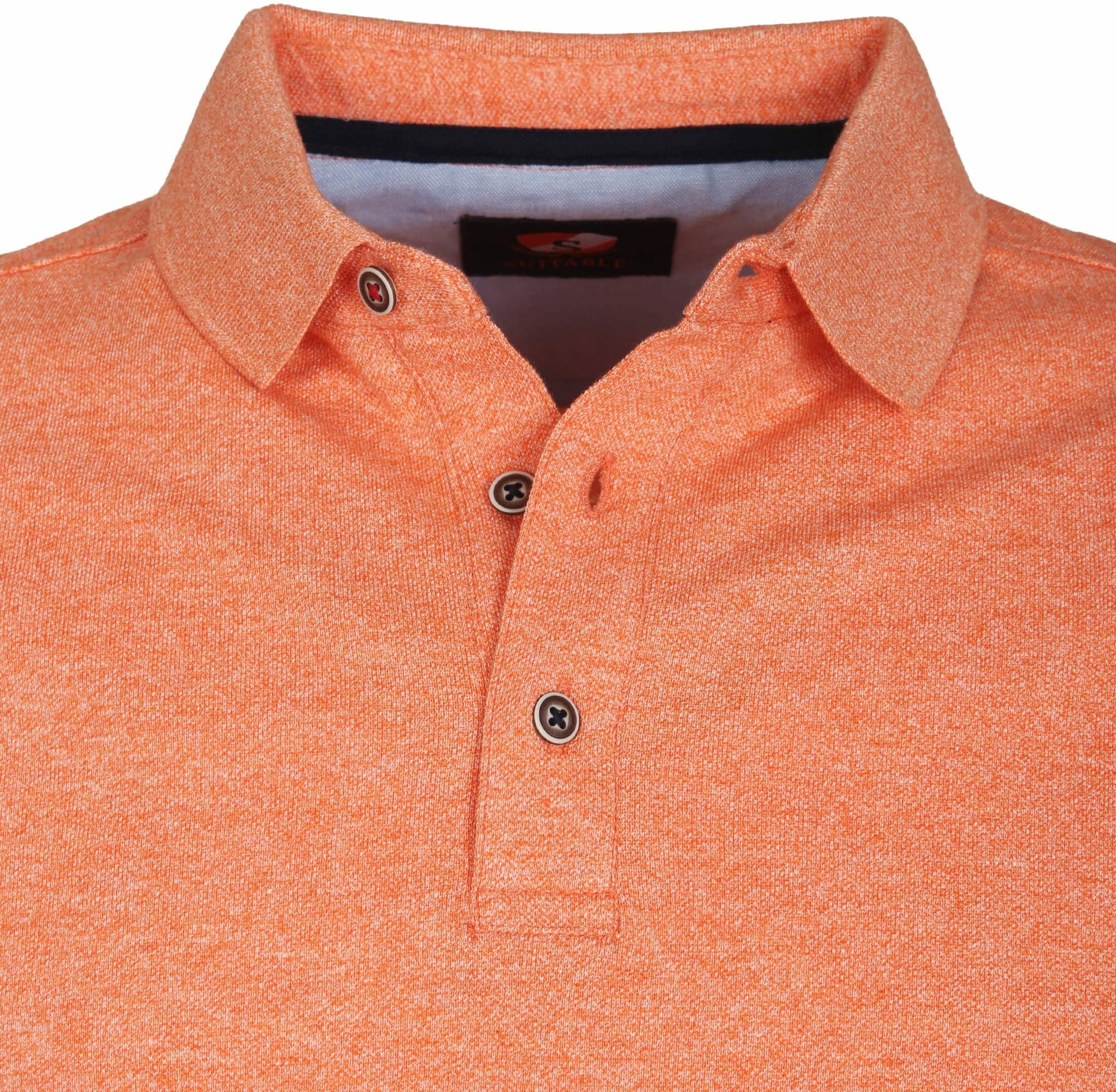 Suitable Poloshirt Jaspe Orange foto 1
