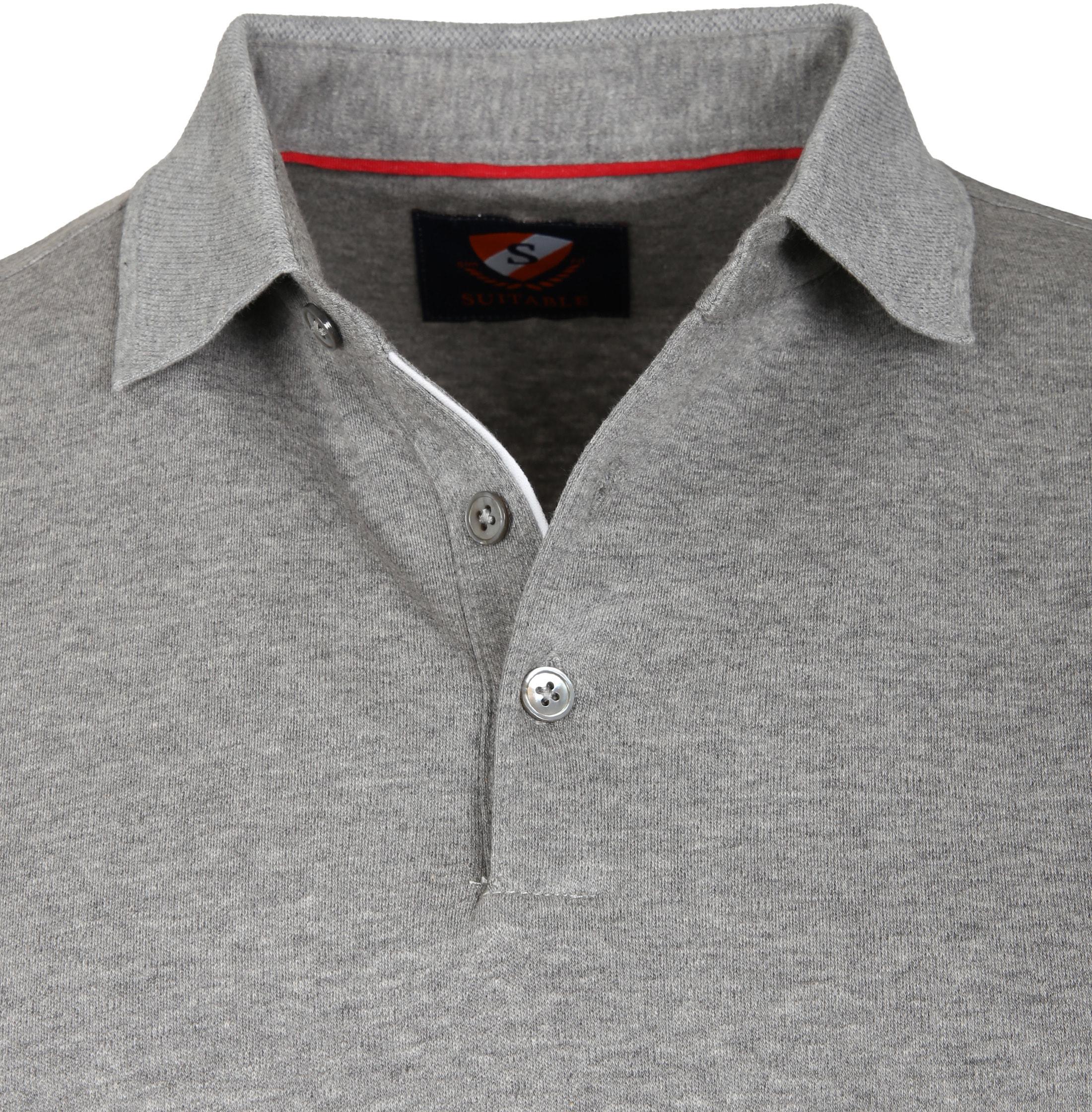 Suitable Poloshirt Liquid Grau foto 1
