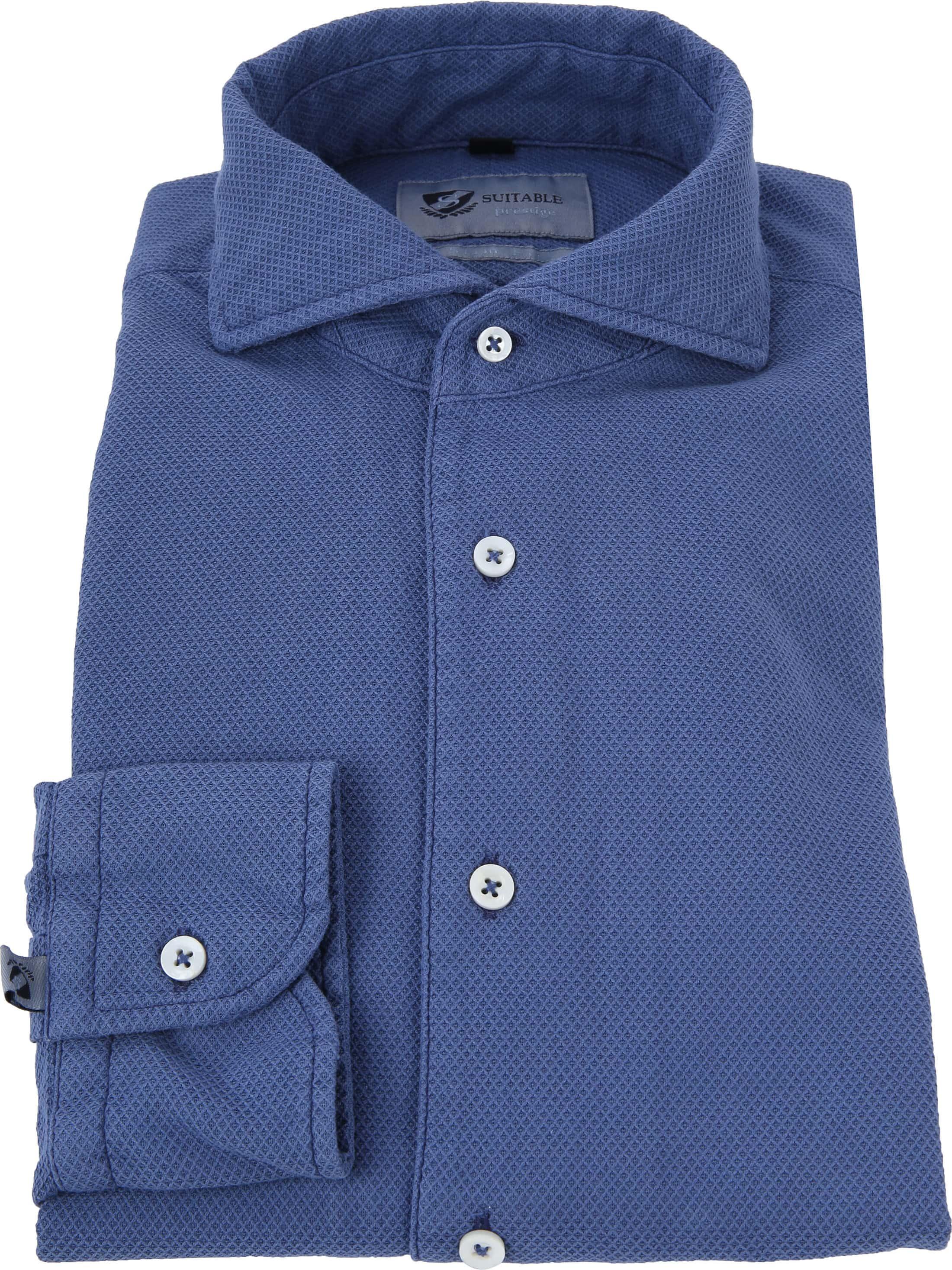 Suitable Prestige Overhemd Blauw foto 2
