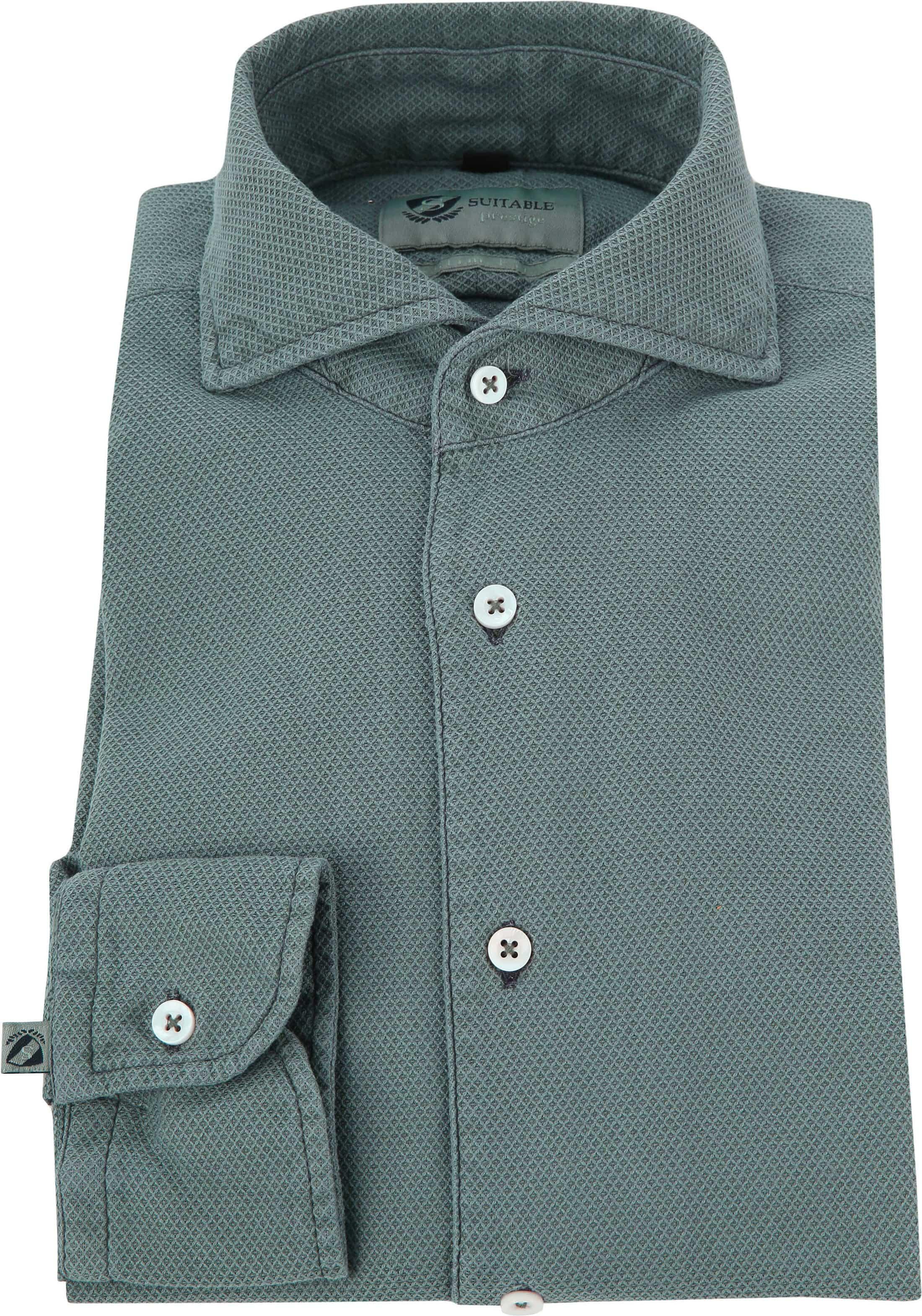 Suitable Prestige Overhemd Groen foto 2