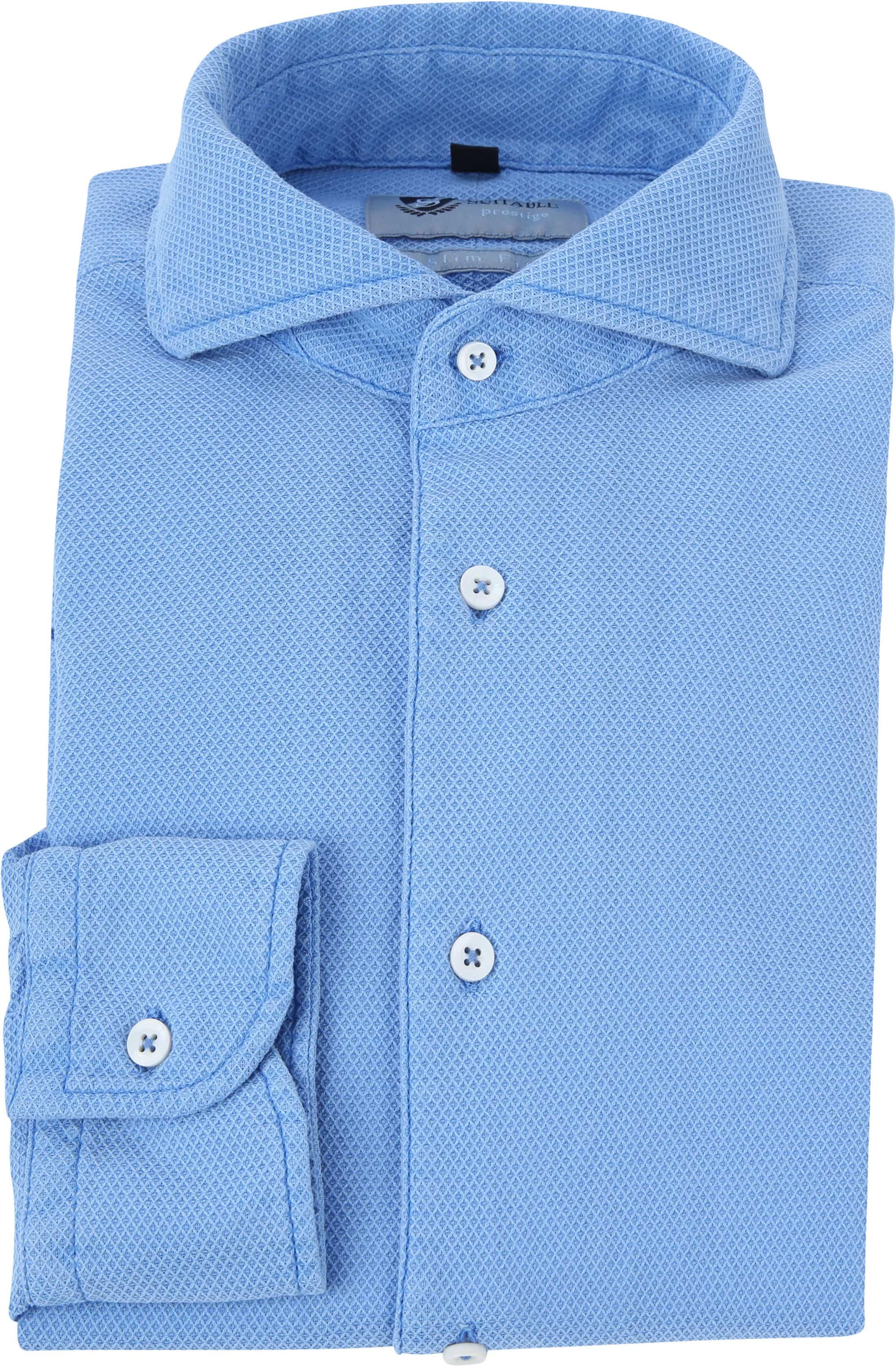 Suitable Prestige Overhemd Lichtblauw foto 2