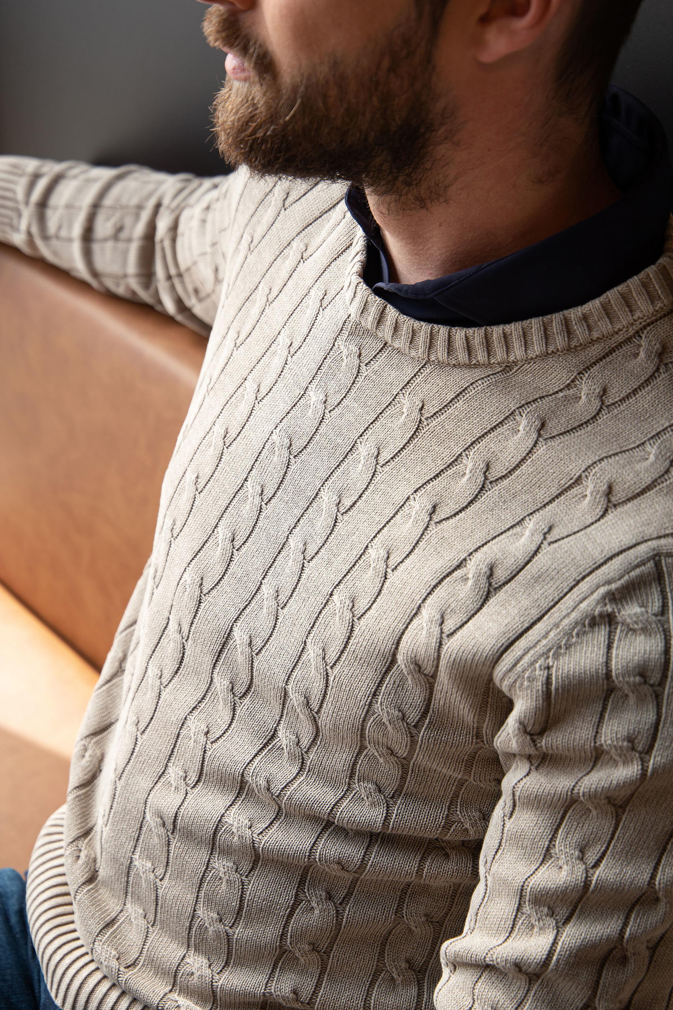 Suitable Prestige Pullover Cedric Beige