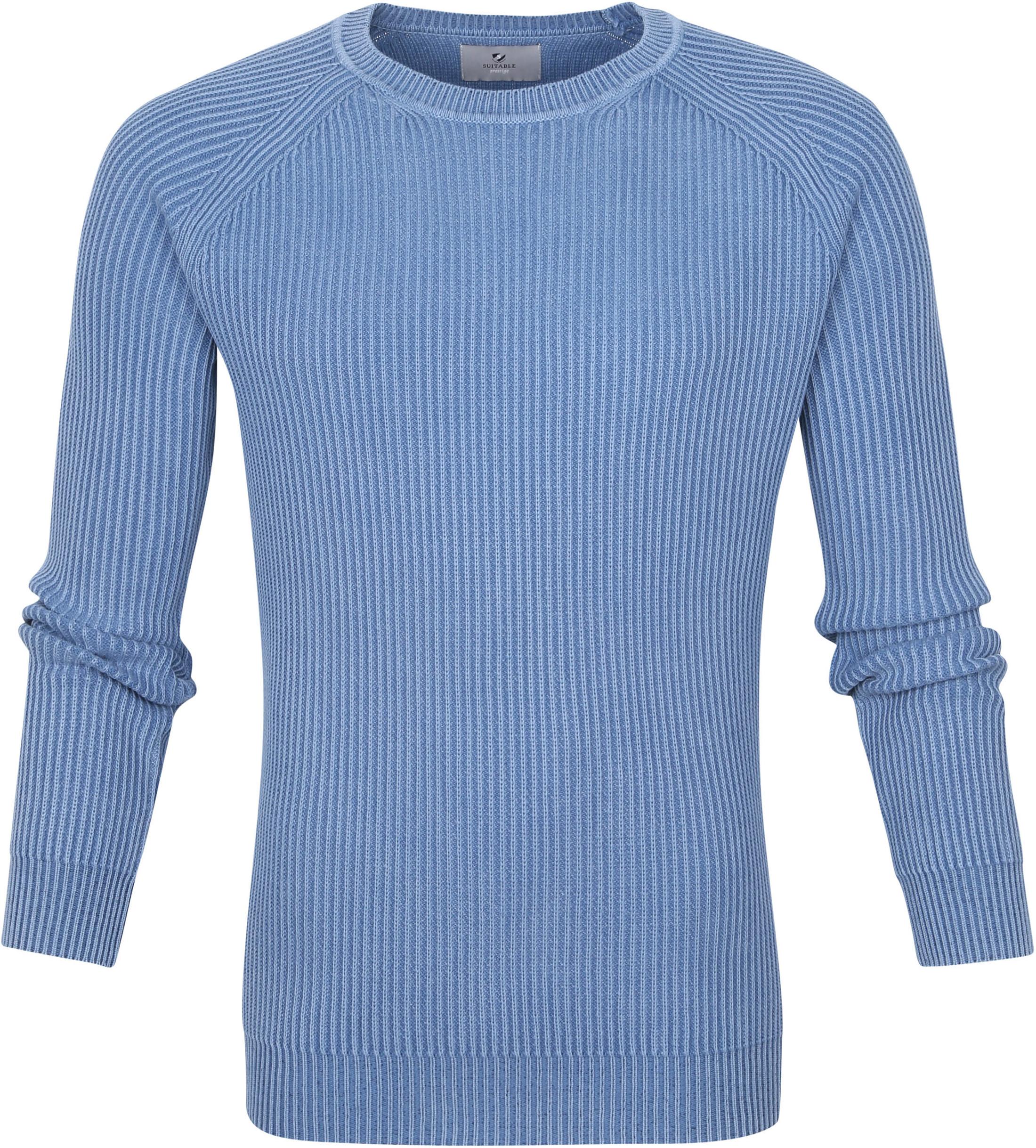Suitable Prestige Pullover Cris Blauw
