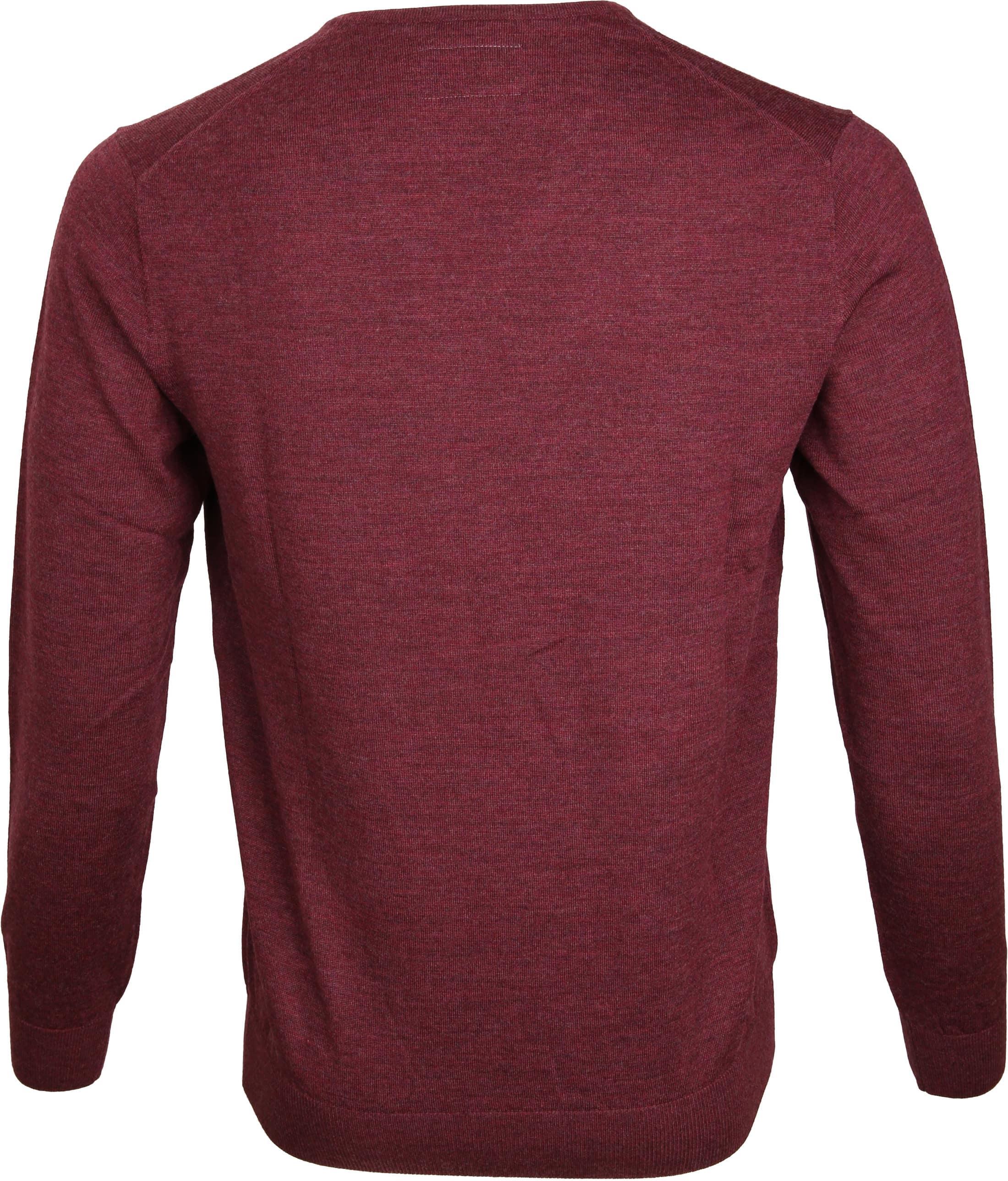 Suitable Prestige Pullover V-Ausschnitt Bordeaux foto 3