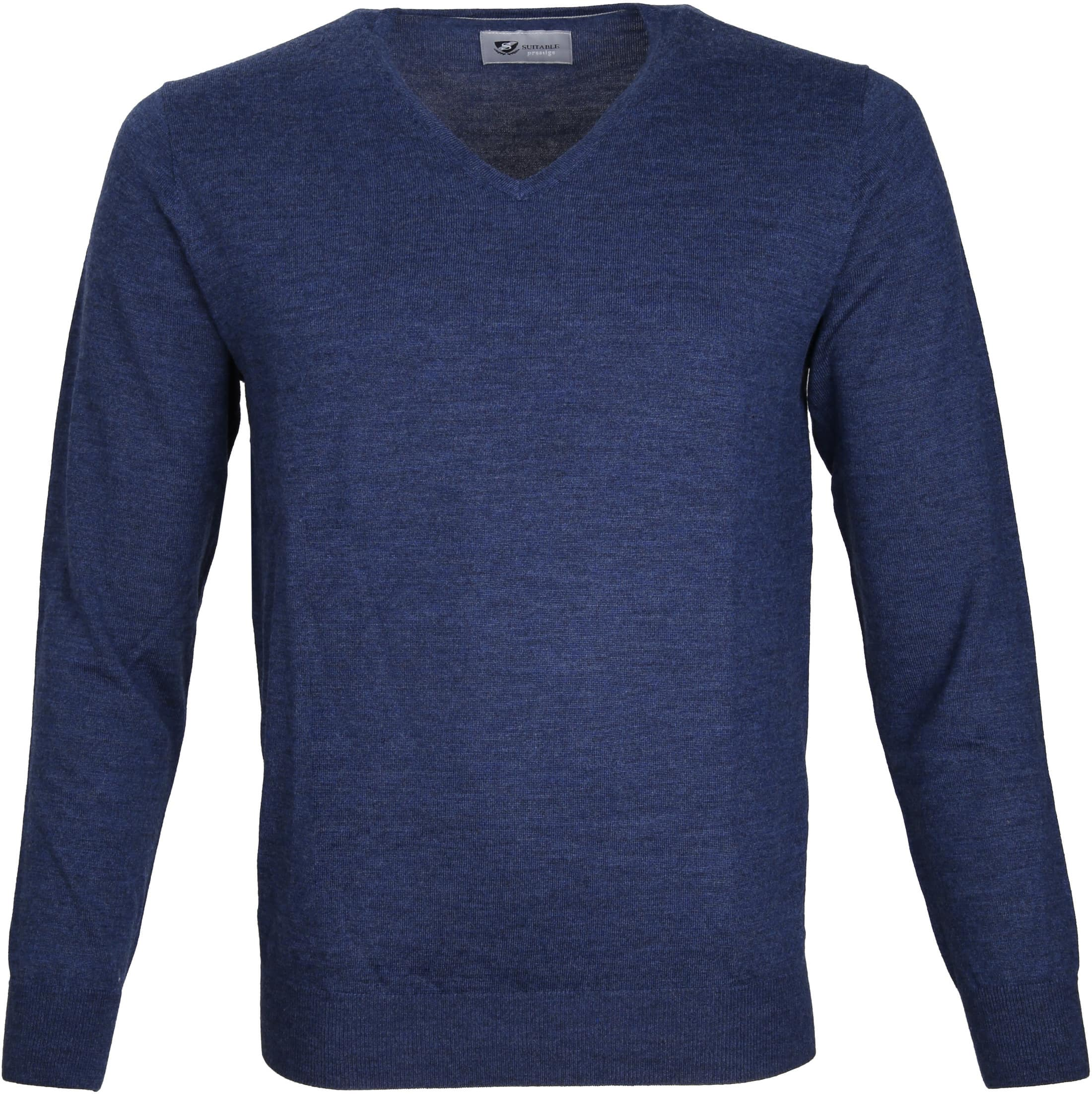 Suitable Prestige Pullover V-Ausschnitt Navy foto 0