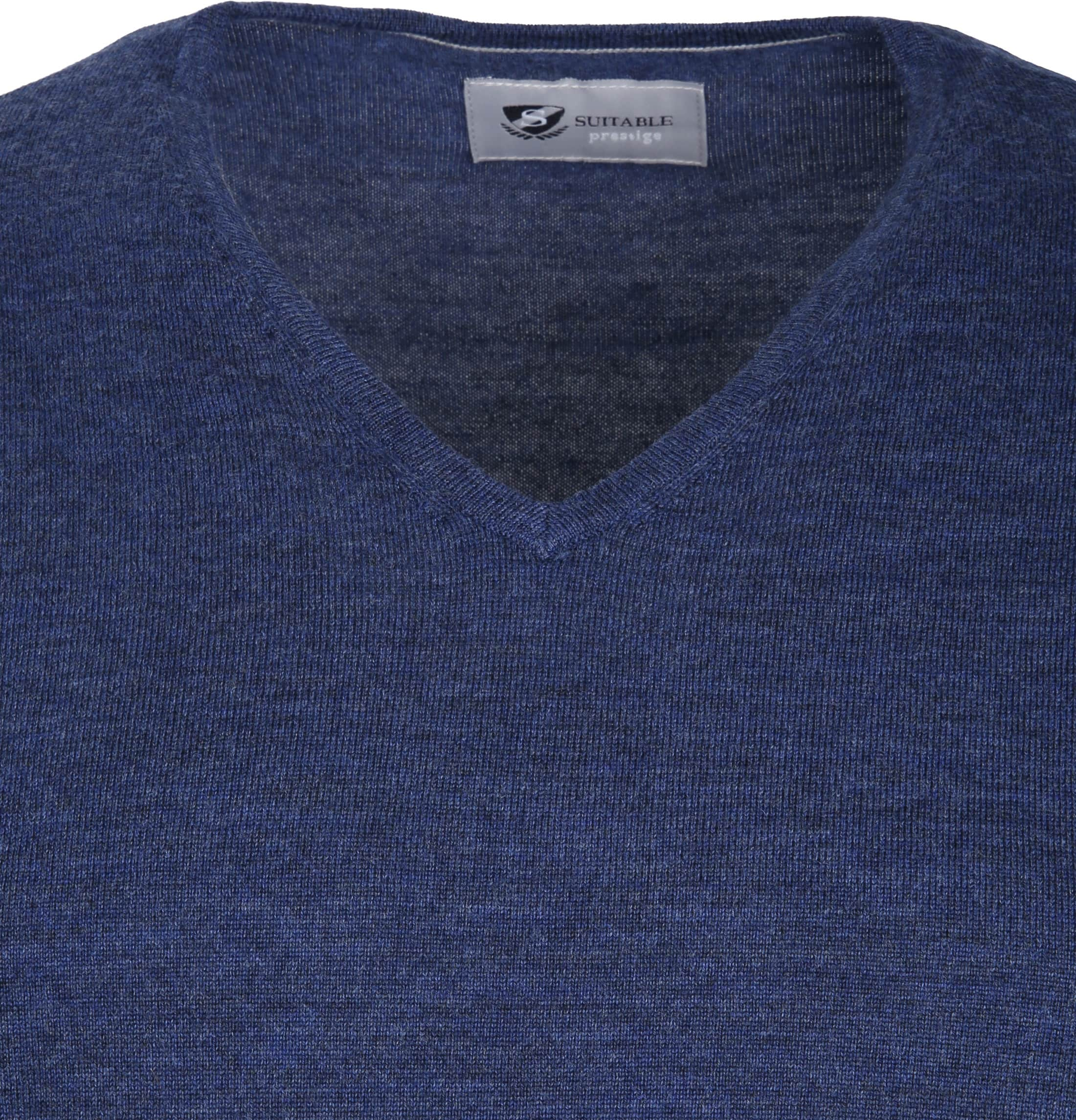 Suitable Prestige Pullover V-Ausschnitt Navy foto 1
