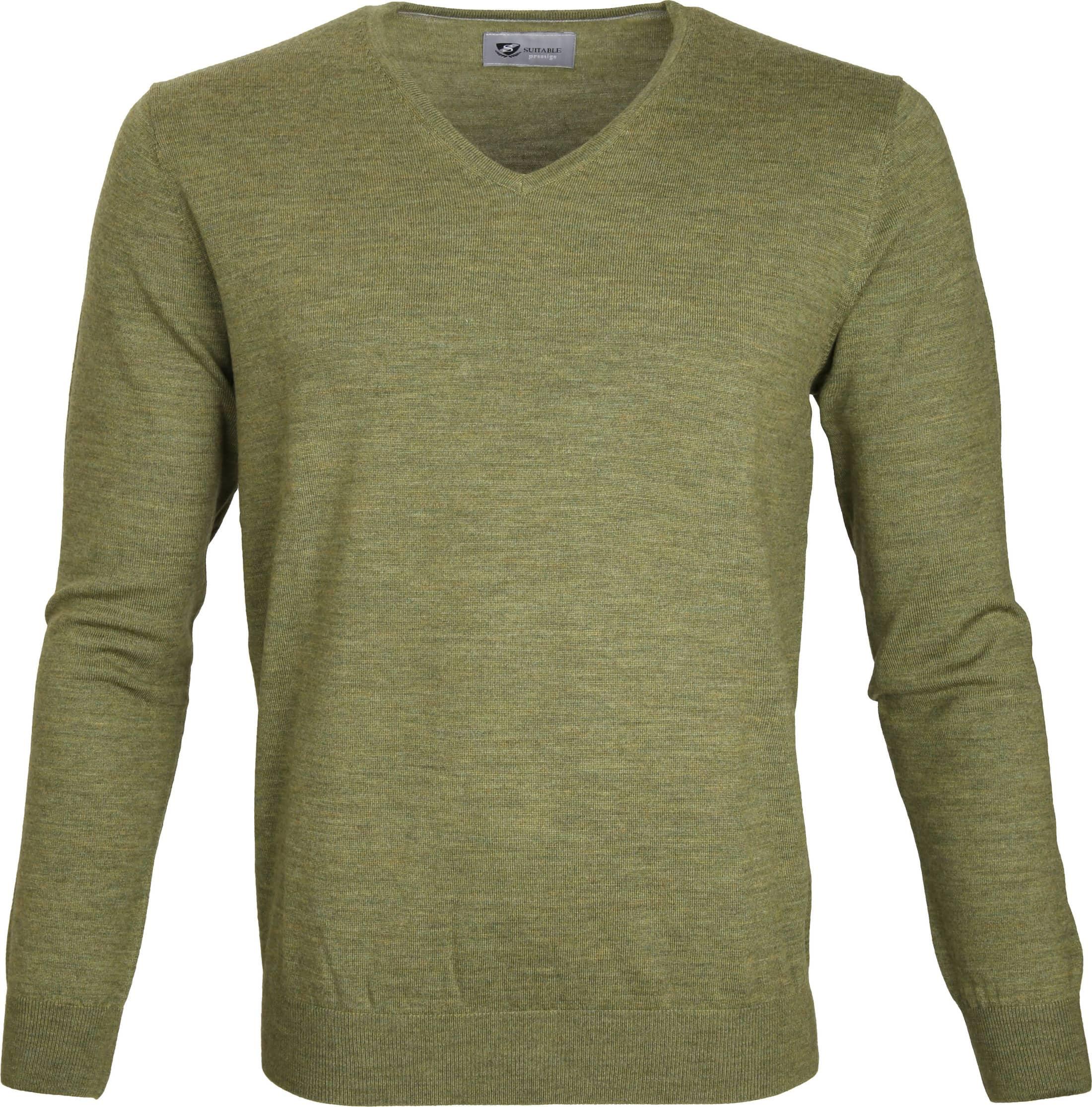 Suitable Prestige Pullover V-hals Groen foto 0