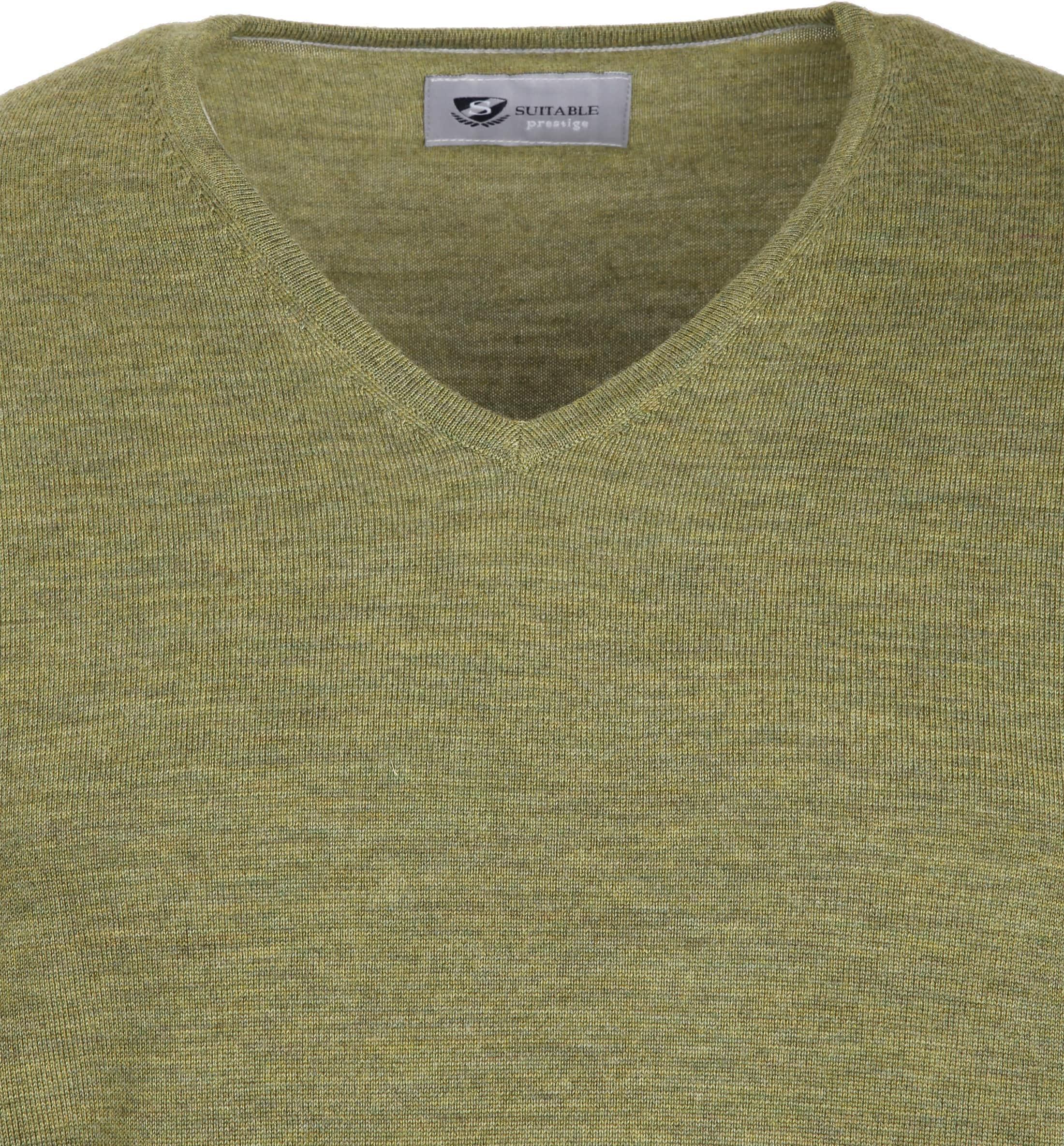 Suitable Prestige Pullover V-hals Groen foto 1