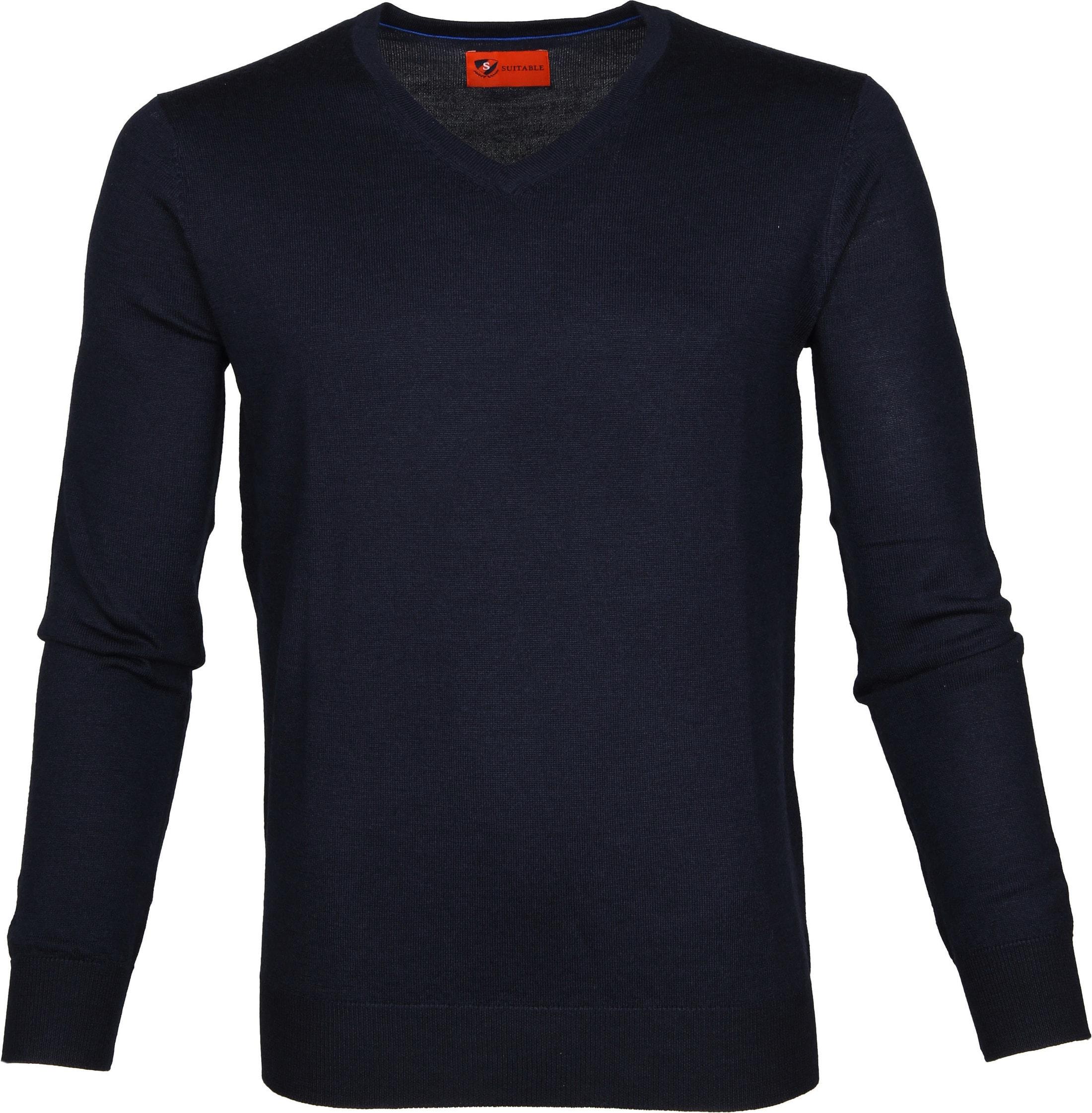 Suitable Pullover Aron Merino Navy foto 0