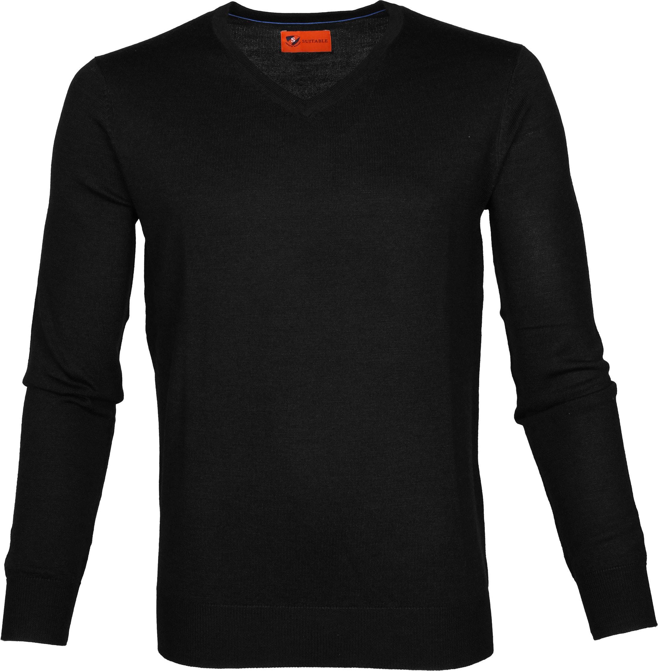 Suitable Pullover Aron Merino Zwart foto 0