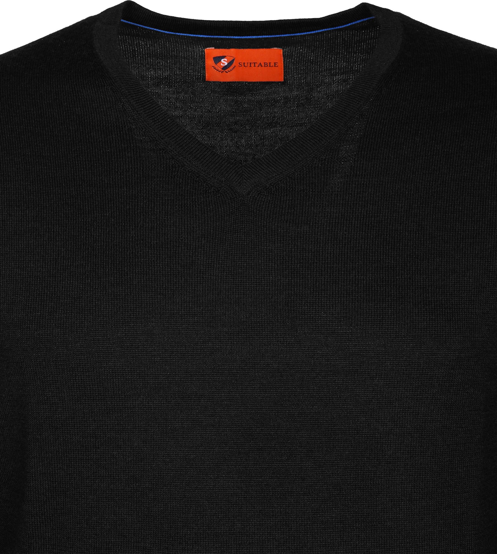 Suitable Pullover Aron Merino Zwart foto 1