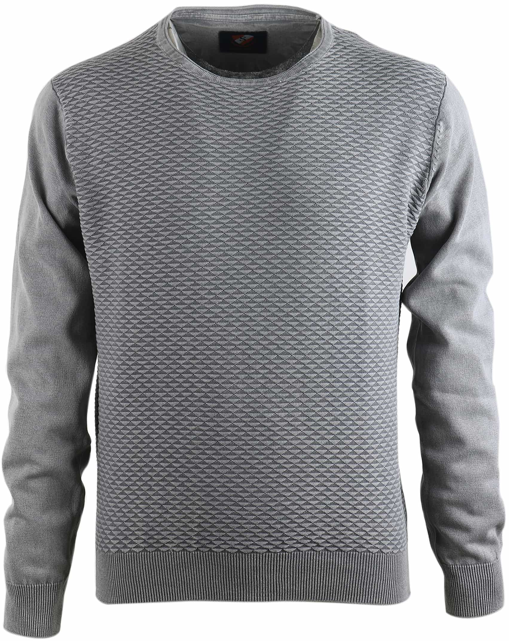 Suitable Pullover Grijs Triangle foto 0