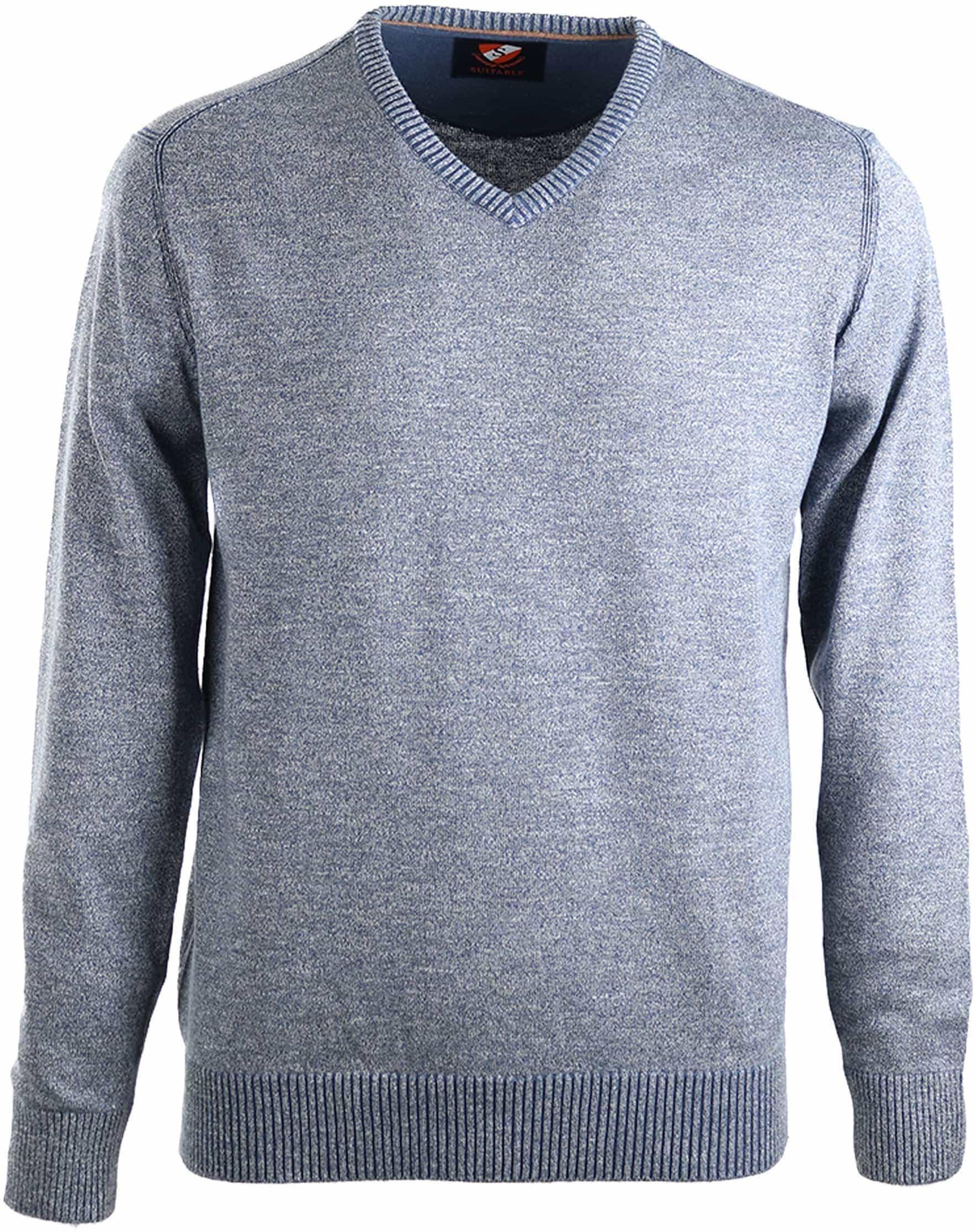 Suitable Pullover Katoen Blauw foto 0
