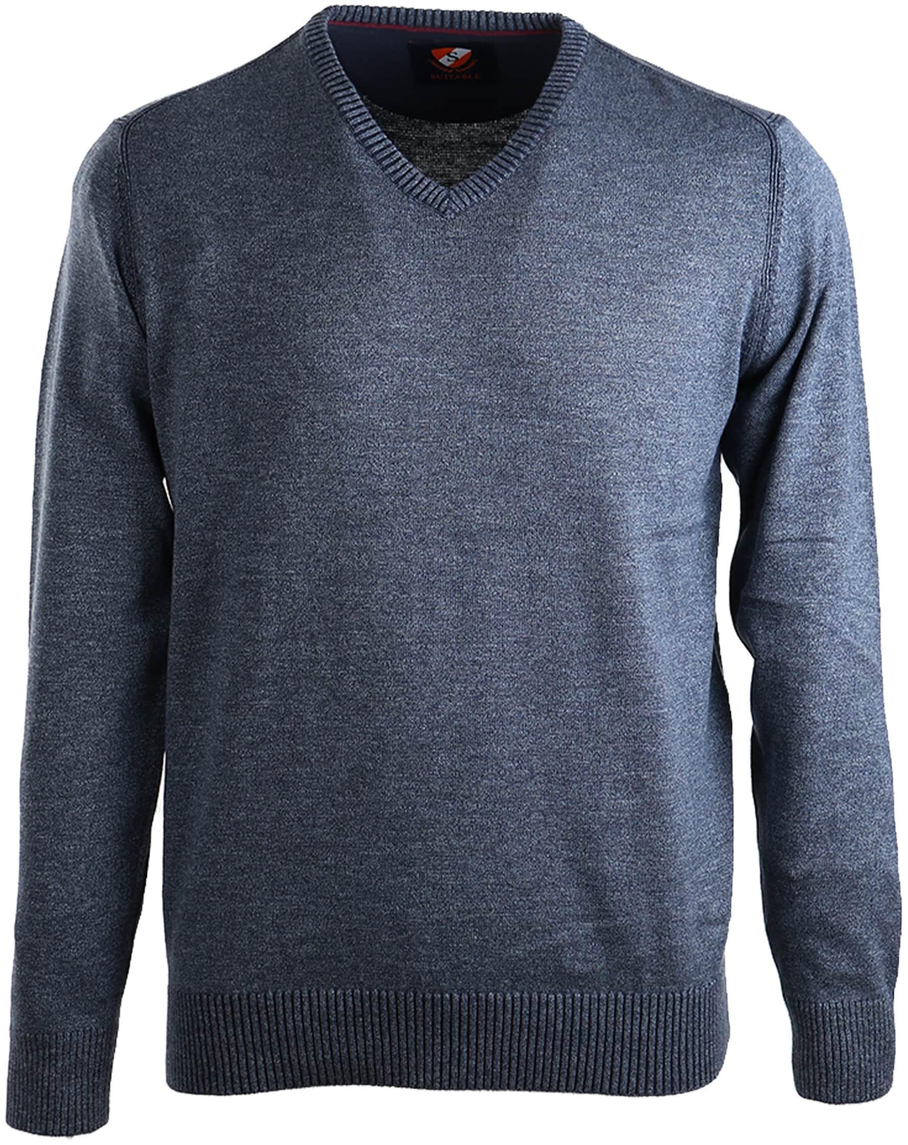 Suitable Pullover Katoen Donkerblauw foto 0