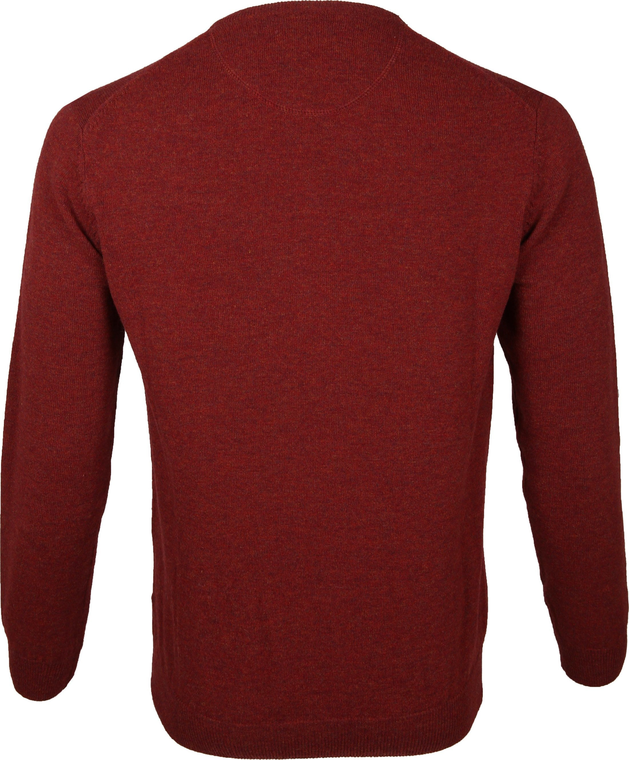 Suitable Pullover Lambswool V-Neck Dark Red foto 2