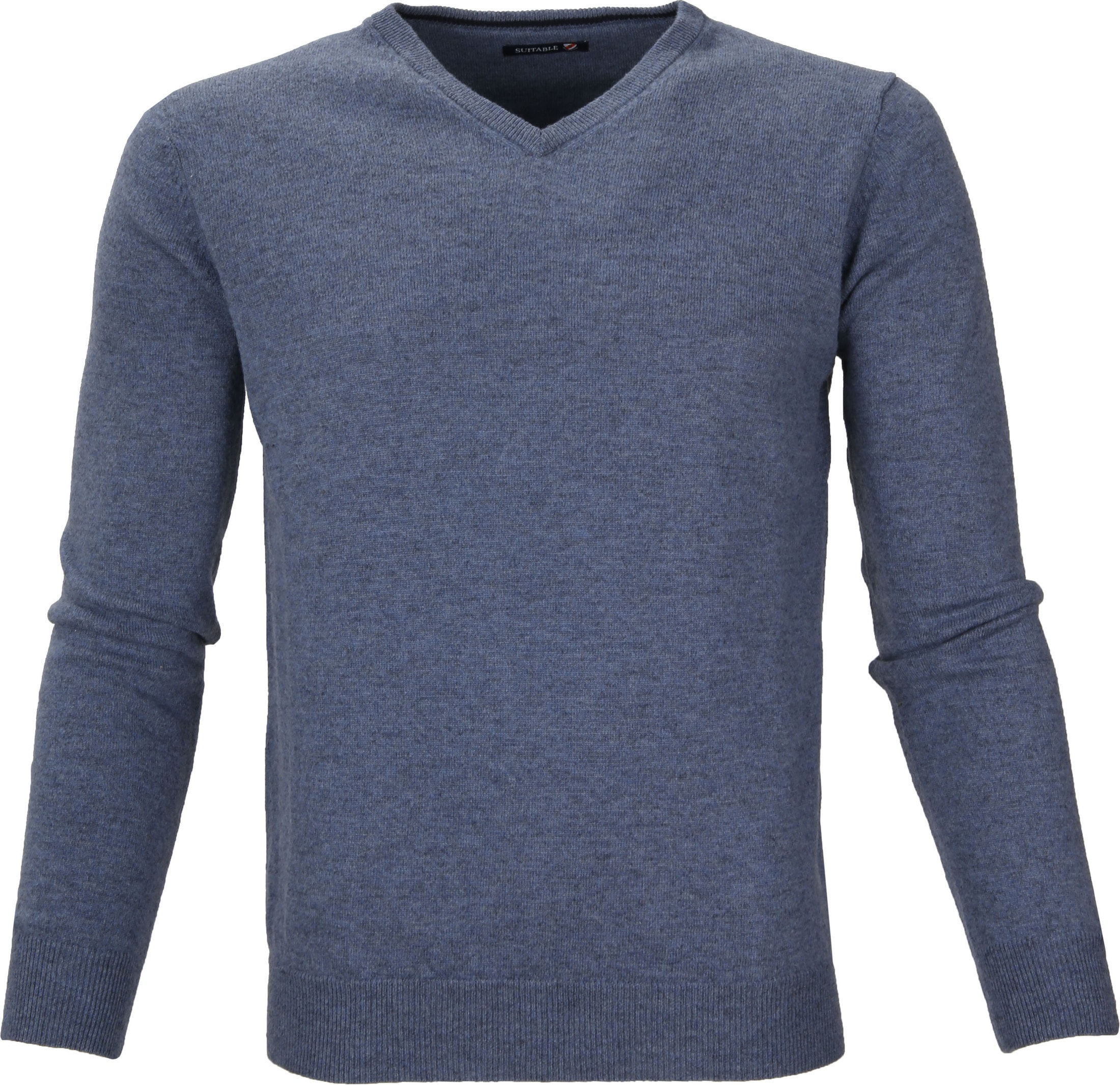 Suitable Pullover Lambswool V-Neck Light Blue foto 0