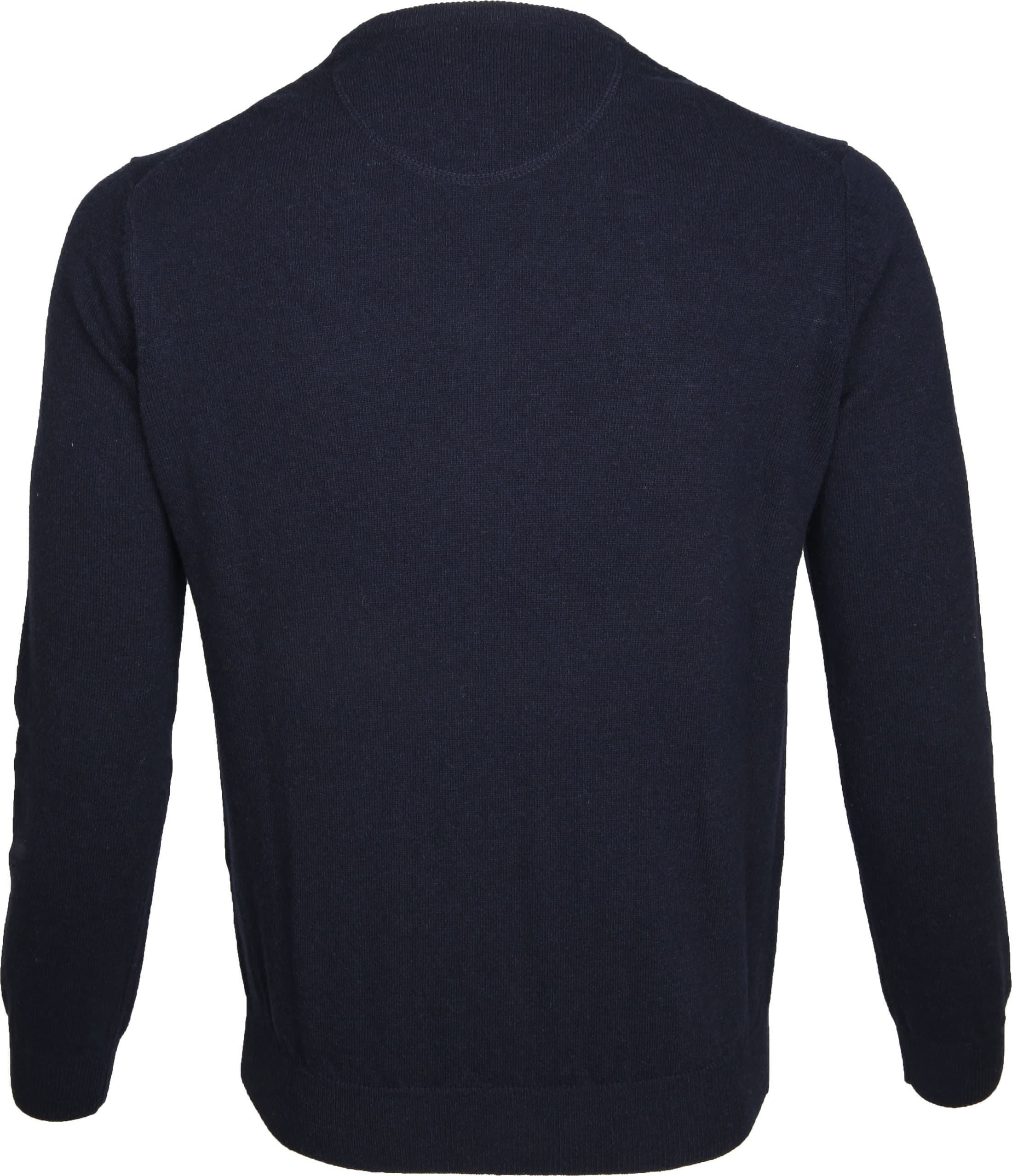 Suitable Pullover Lambswool V-Neck Navy foto 2